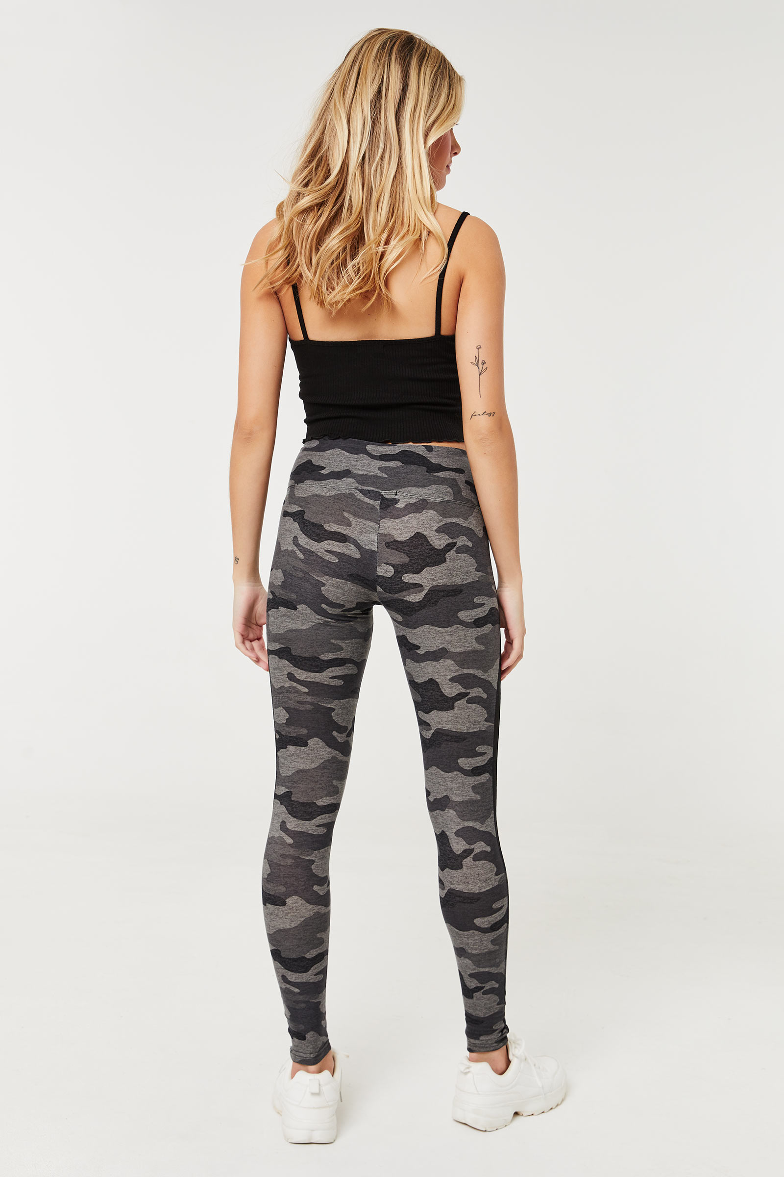 Camo Leggings with Mesh Inserts