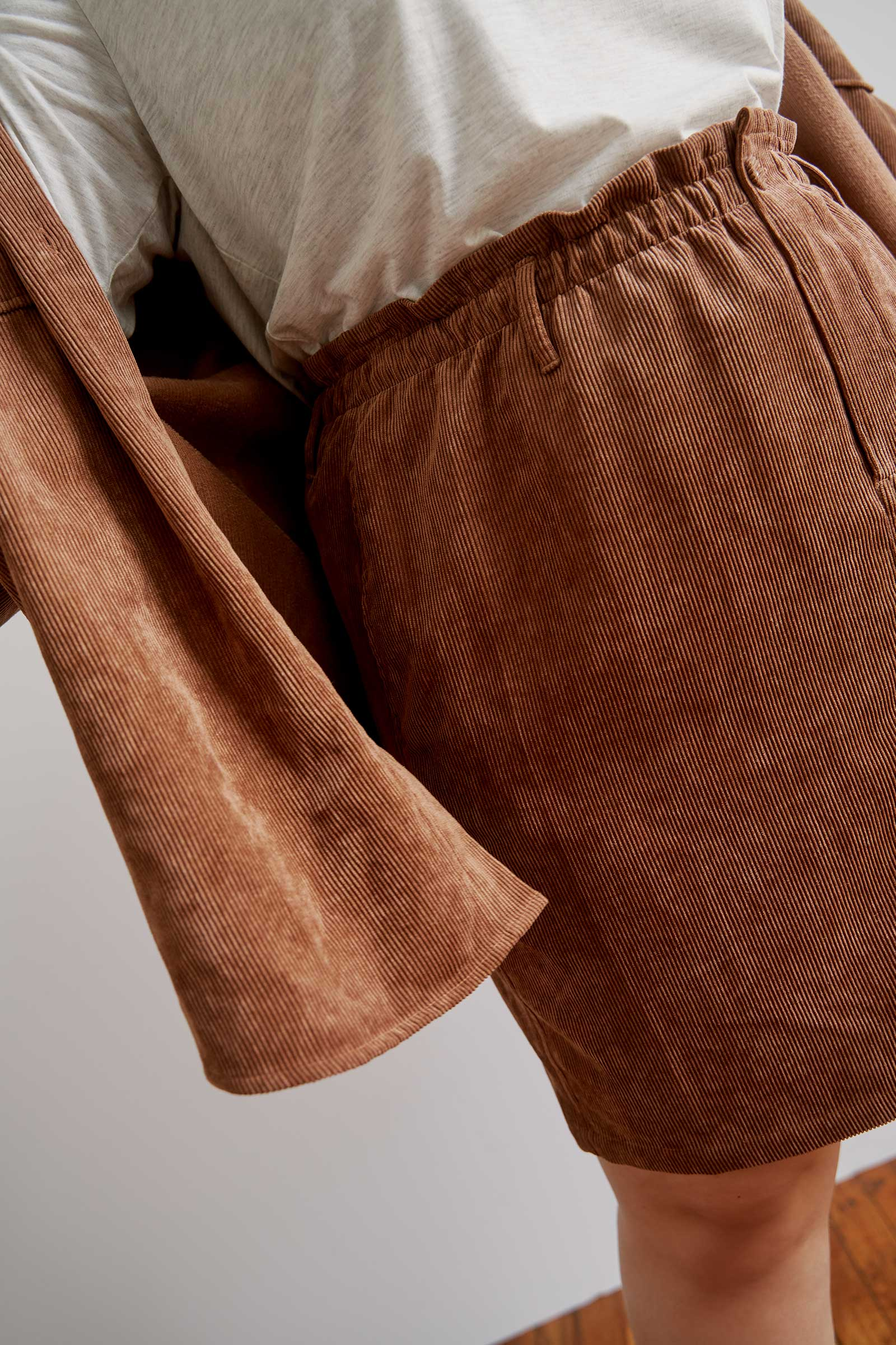 Paper Bag Corduroy Skirt