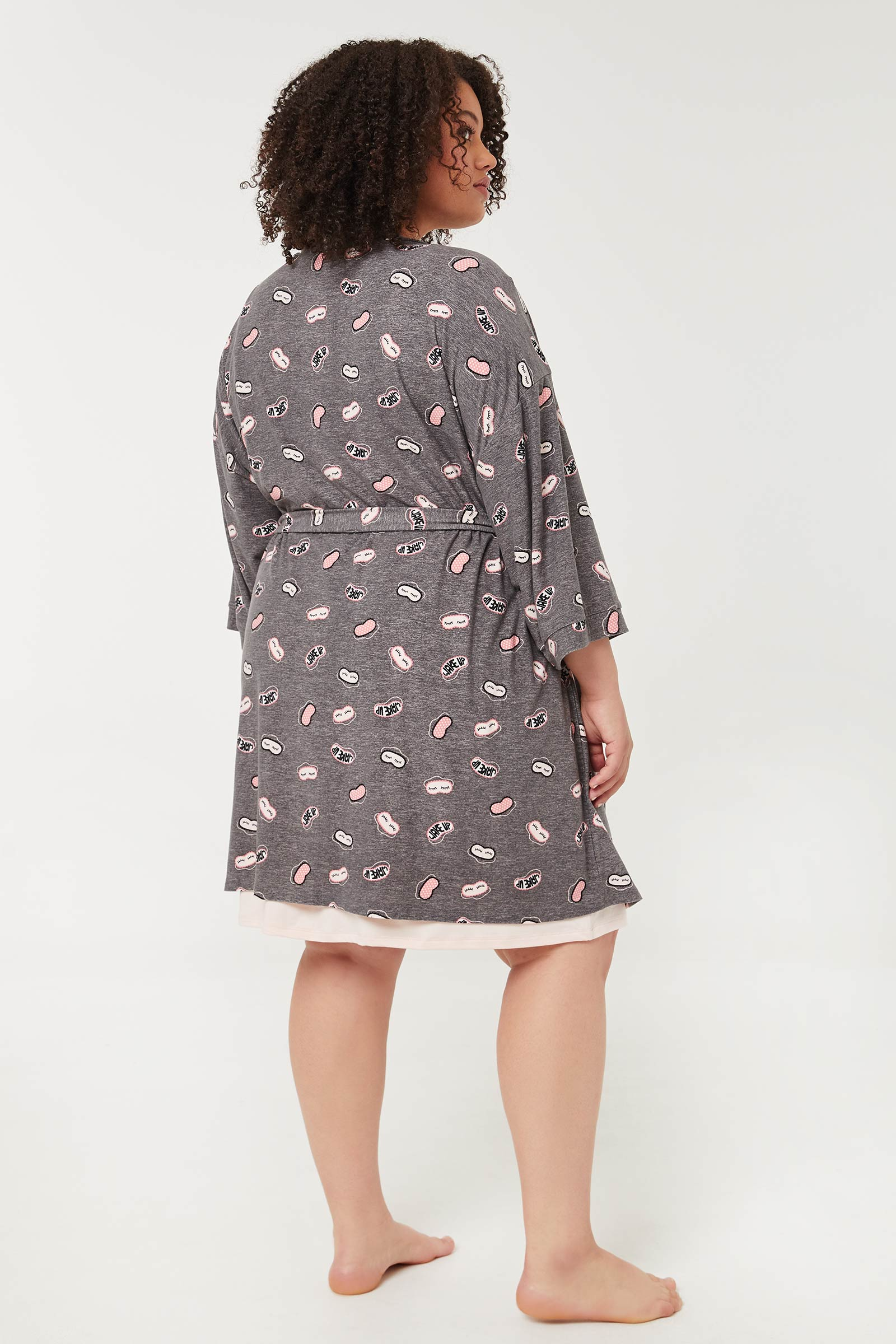 Nightshirt & Kimono PJ Set
