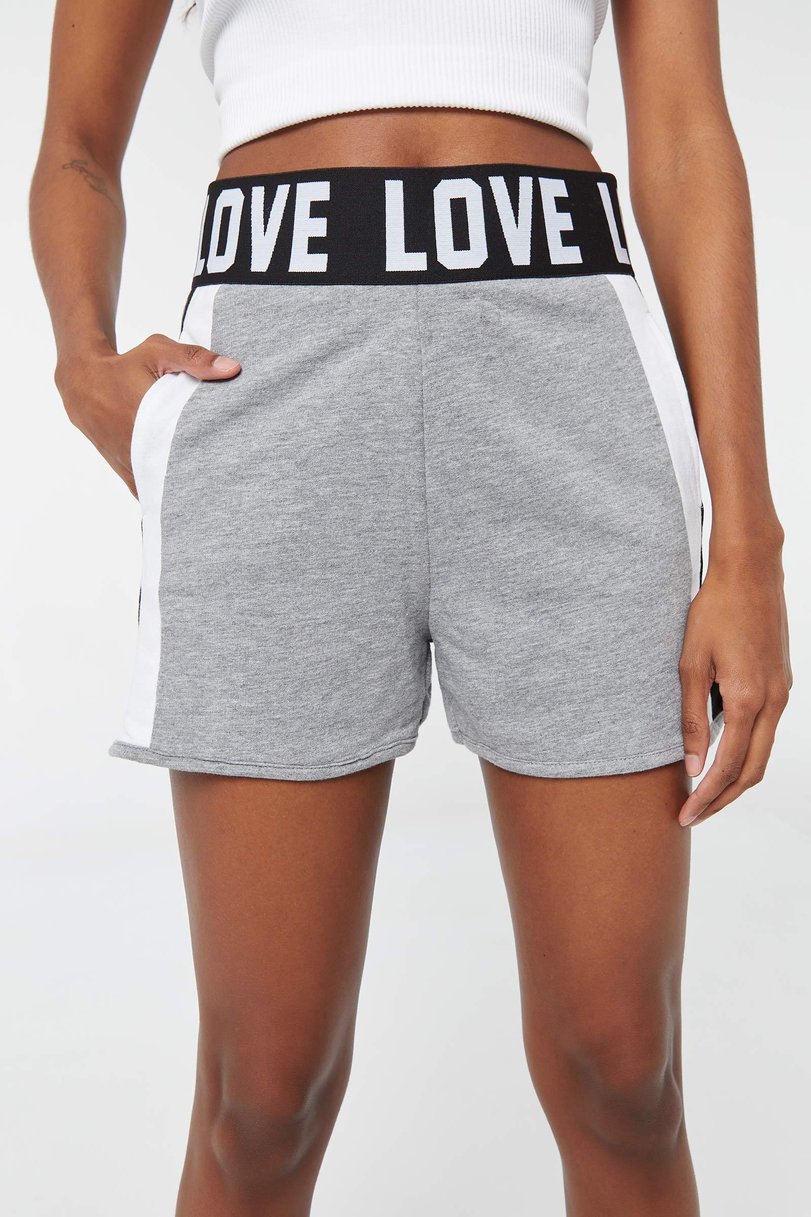 Color Block Waistband Shorts