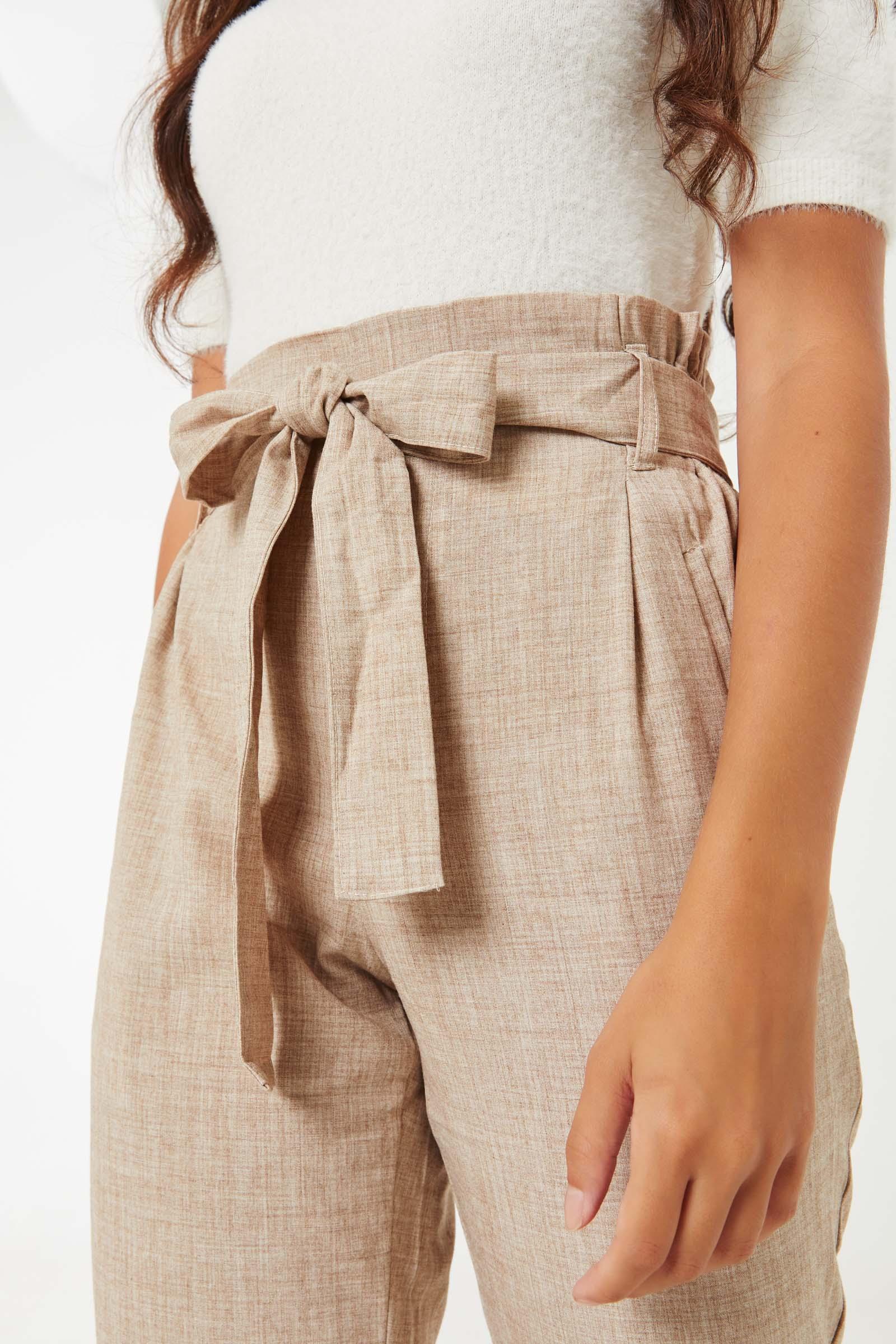 Paper Bag Dressy Pants