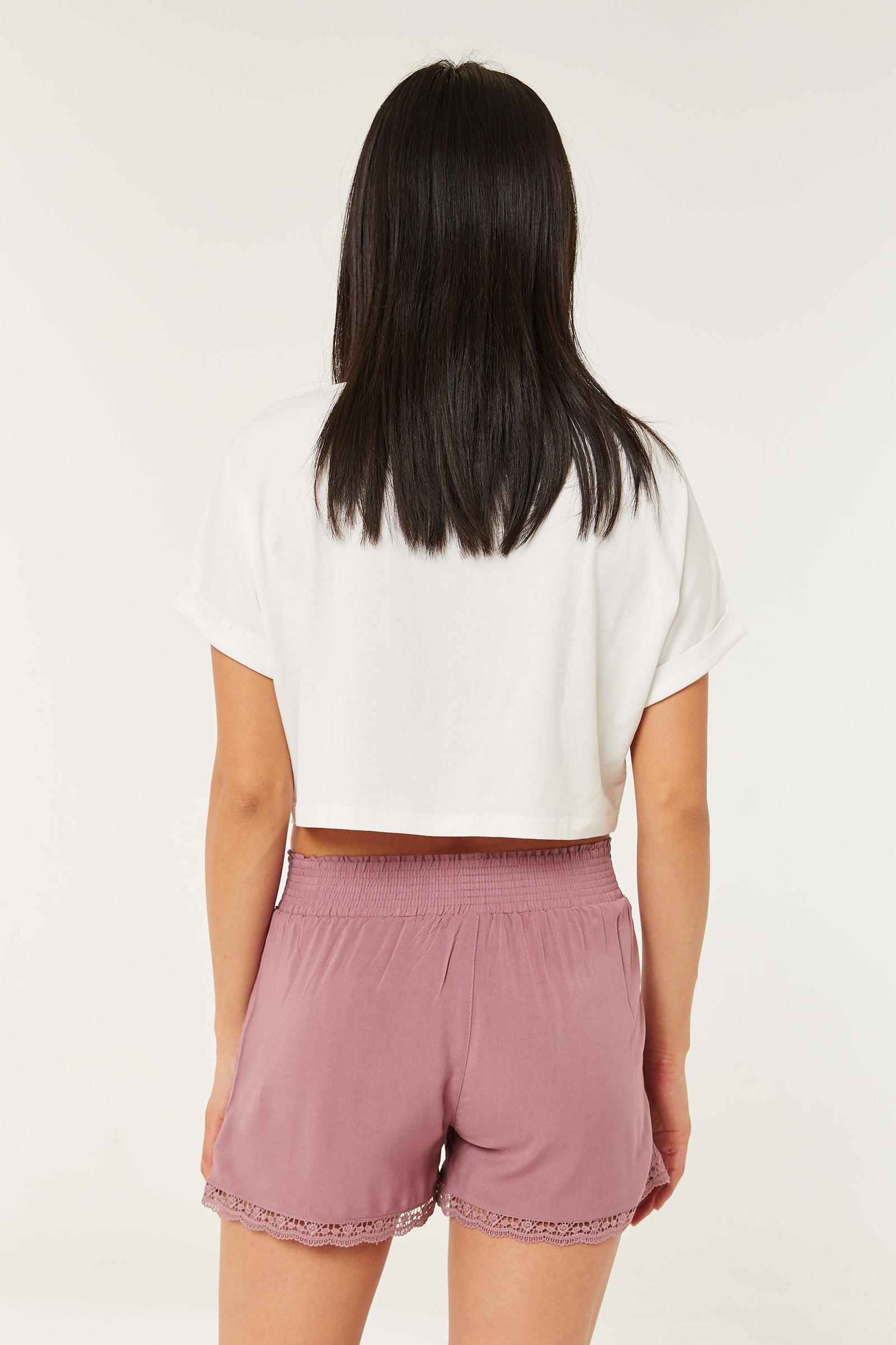 Smocked High Rise Shorts