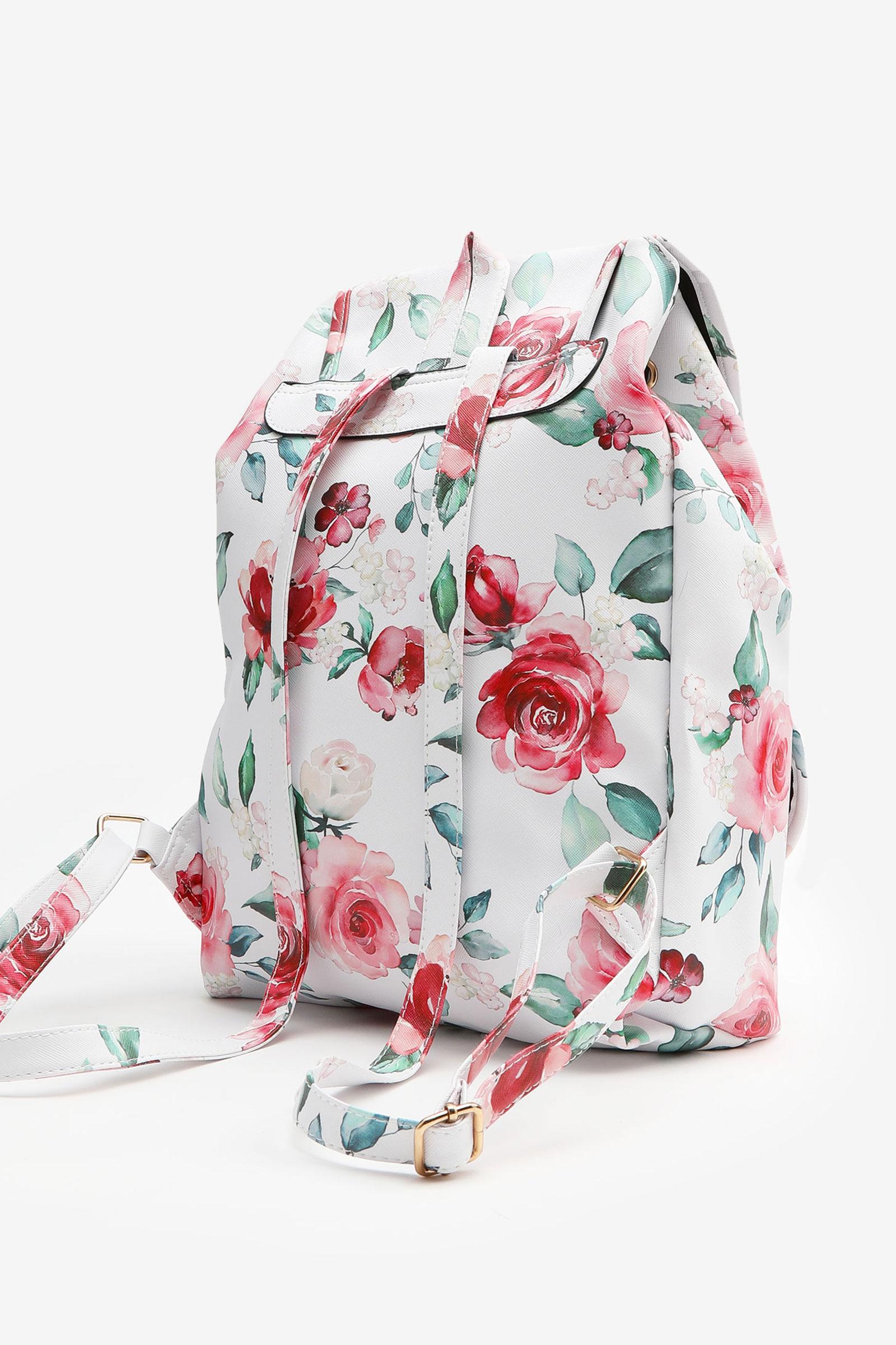 Floral Drawstring Backpack