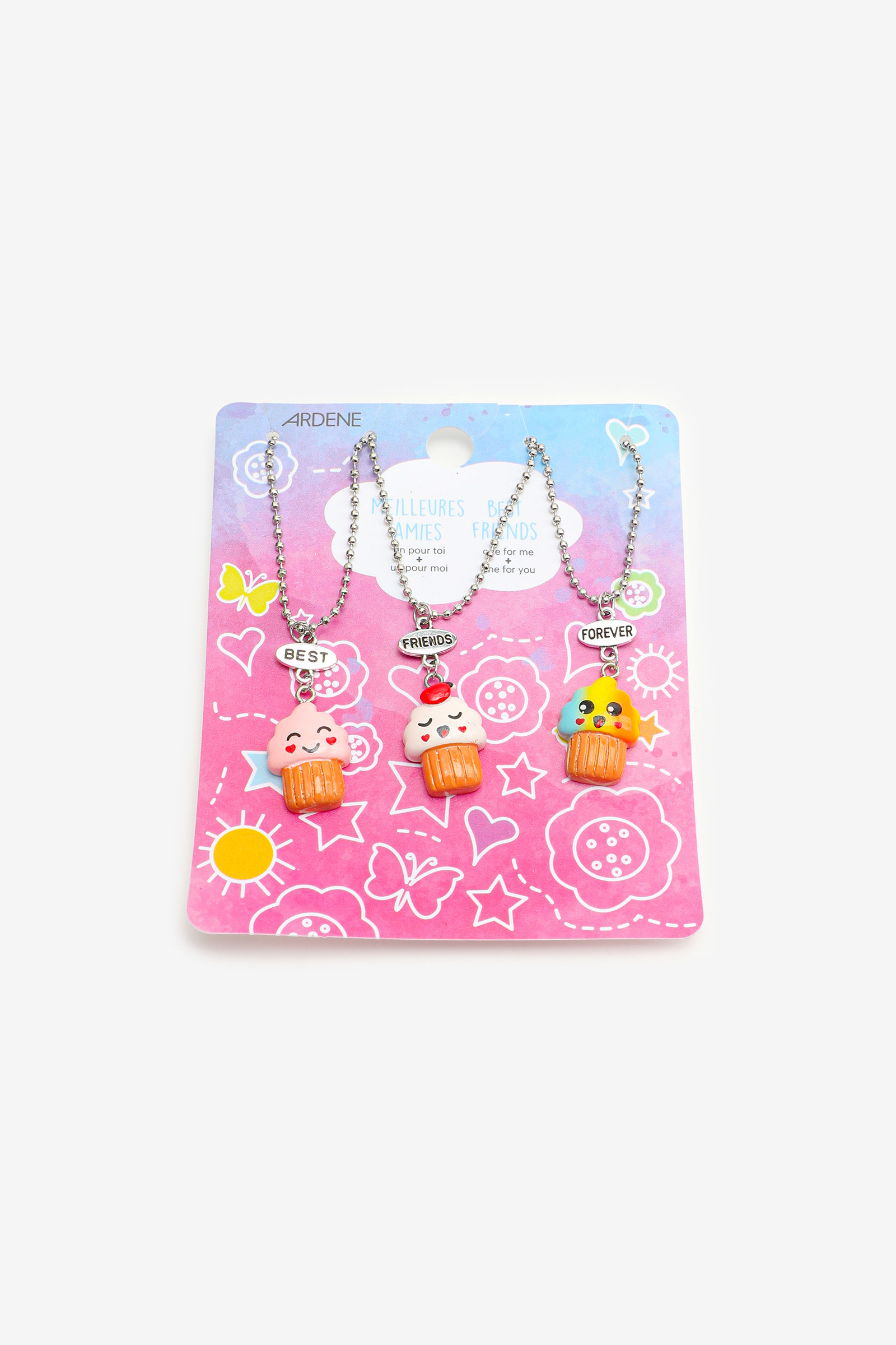 Cupcake BFF Necklaces for Girls