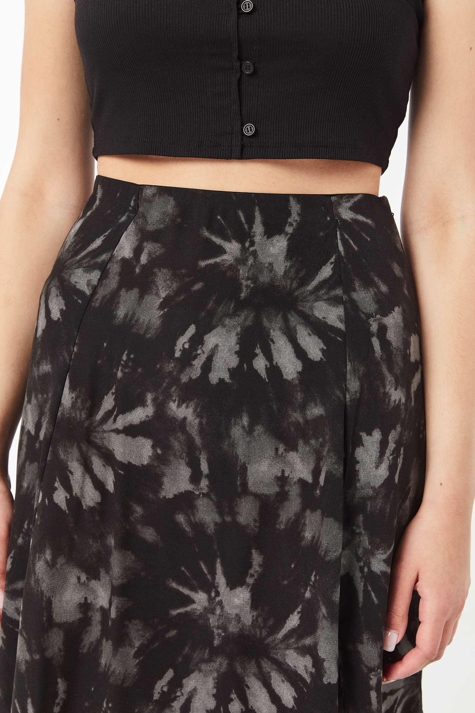 Crêpe Tie-Dye Maxi Skirt