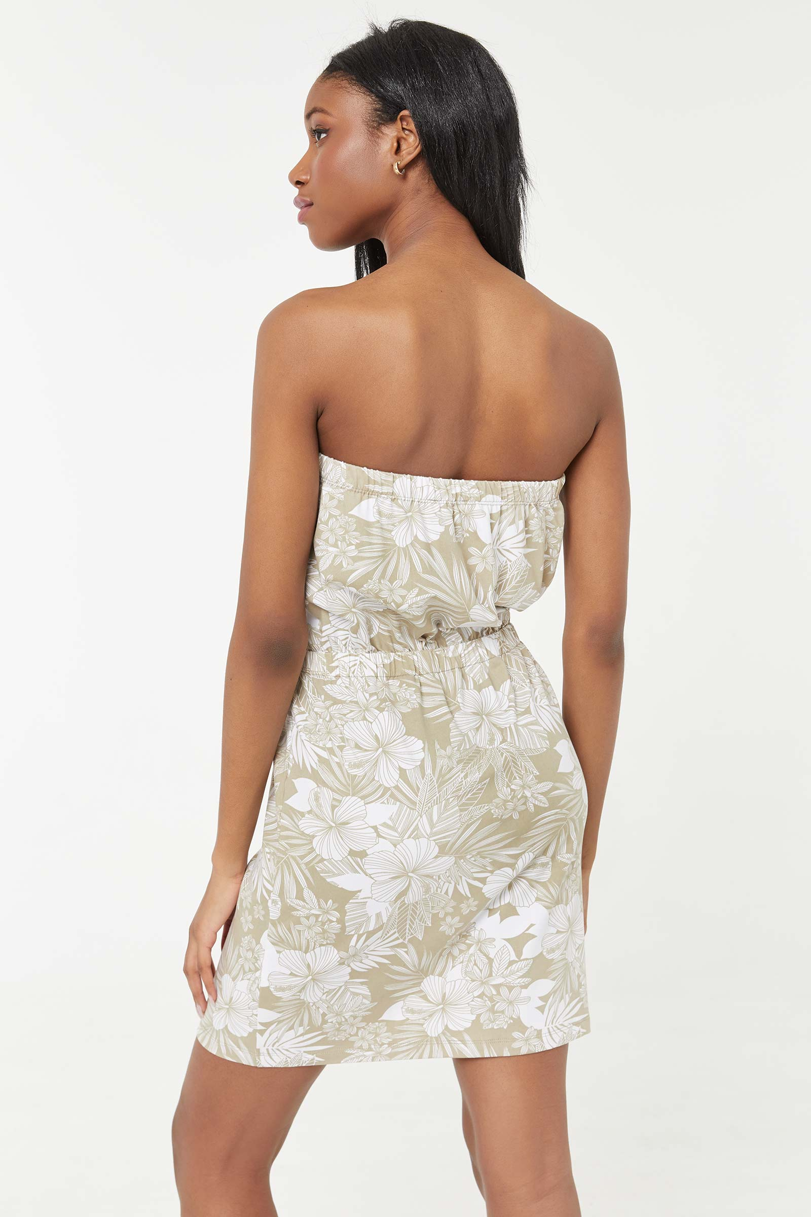 Floral Mini Tube Dress