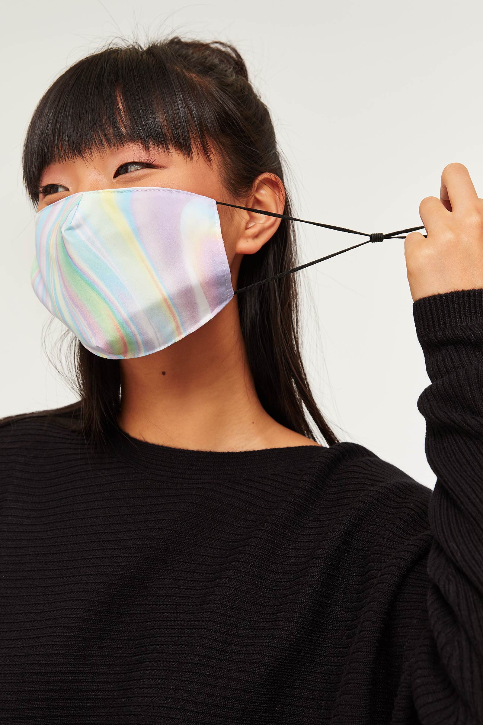 Striped Tie-dye Reusable Face Covering