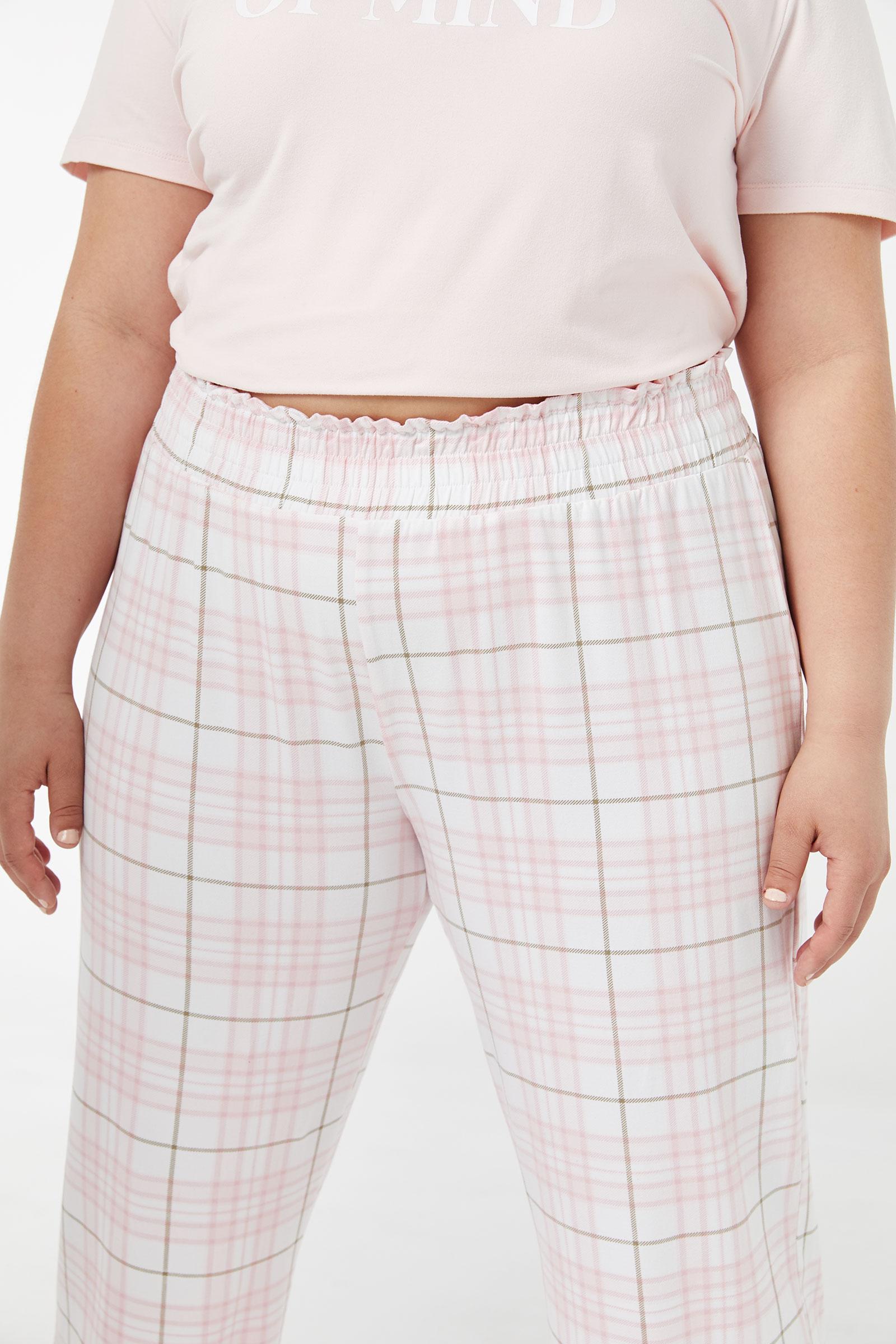 Pantalon de pyjama fleuri Taille Plus