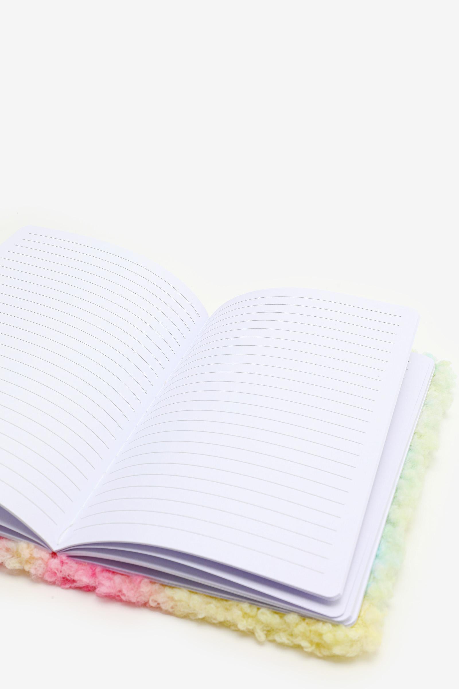 Faux Sherpa Tie-Dye Notebook