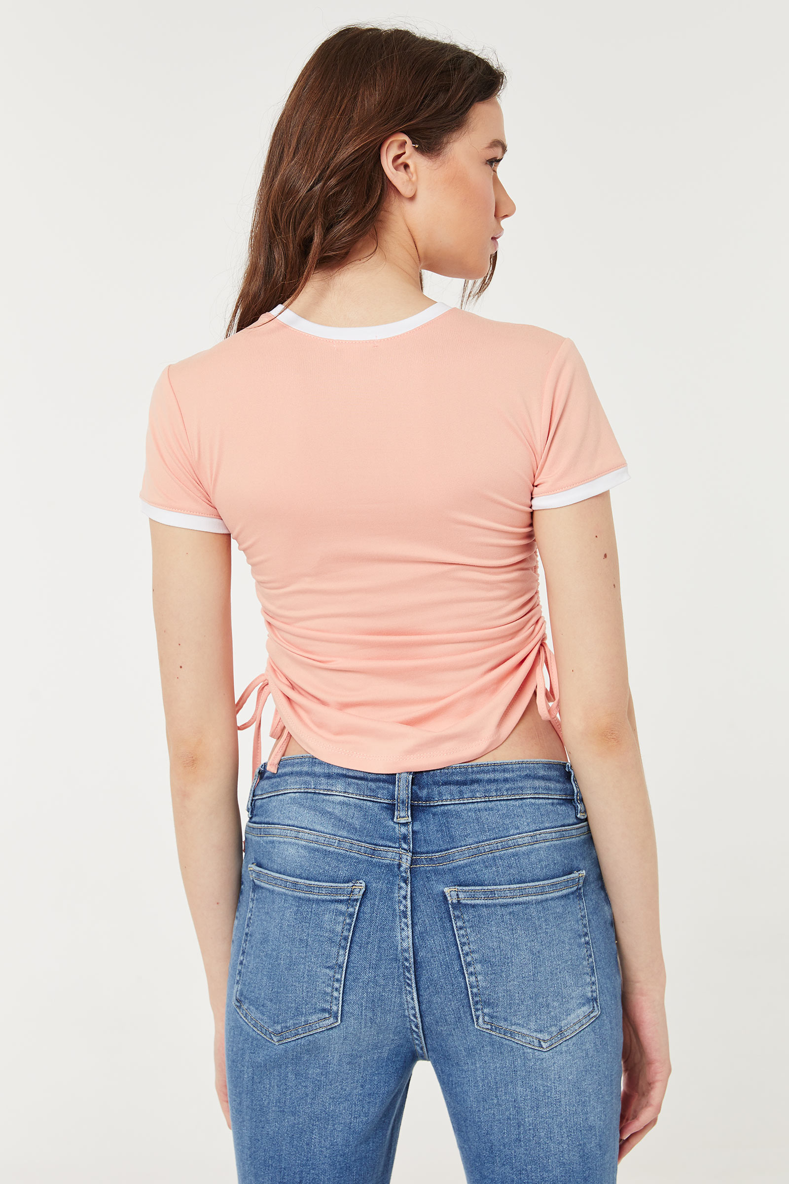 Heart T-shirt with Side Ruching