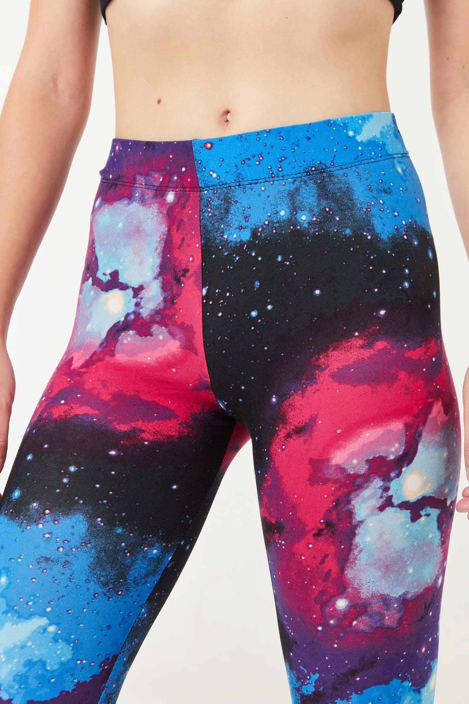 Legging très doux galaxie mauve