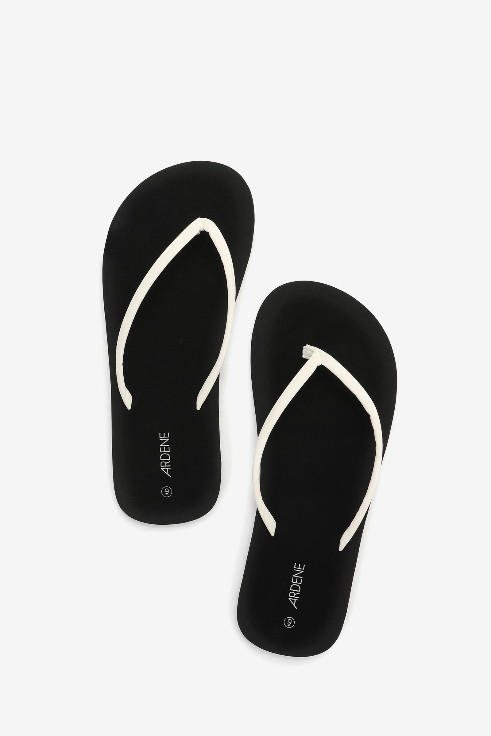 Faux Leather Flip-Flops