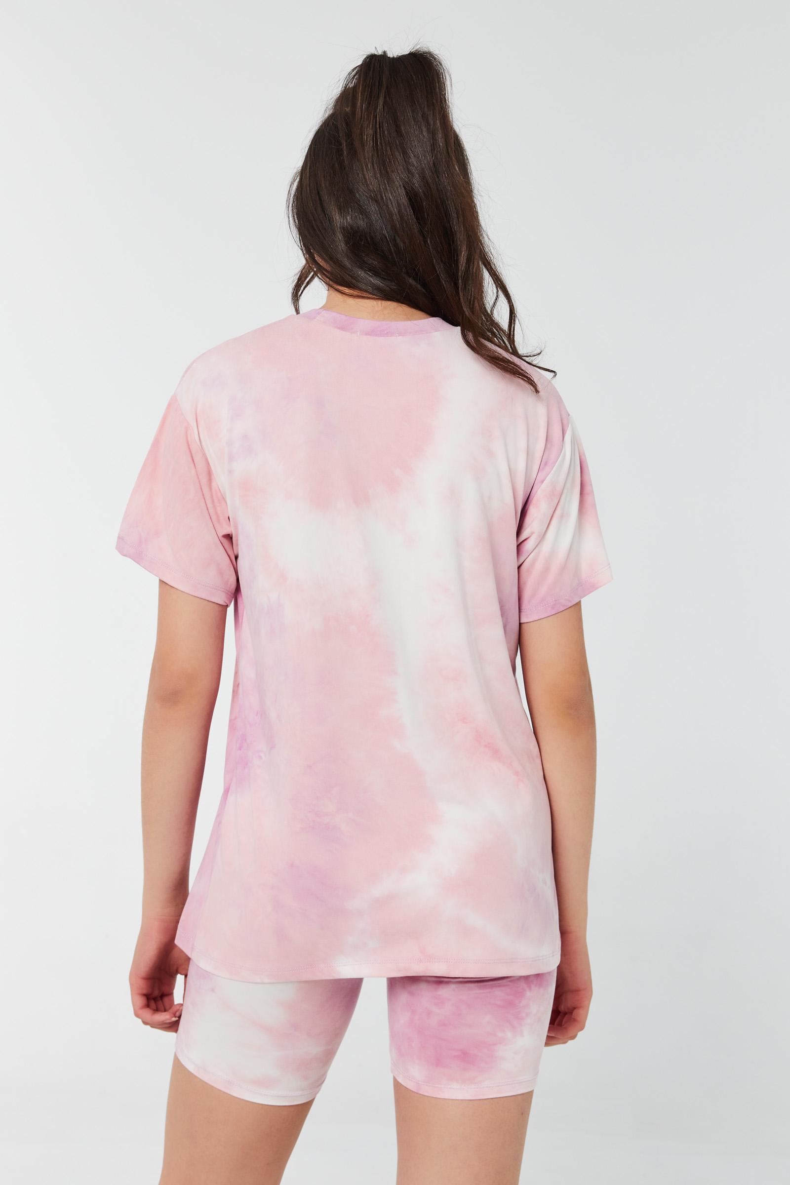 T-shirt très doux ample papillons tie-dye