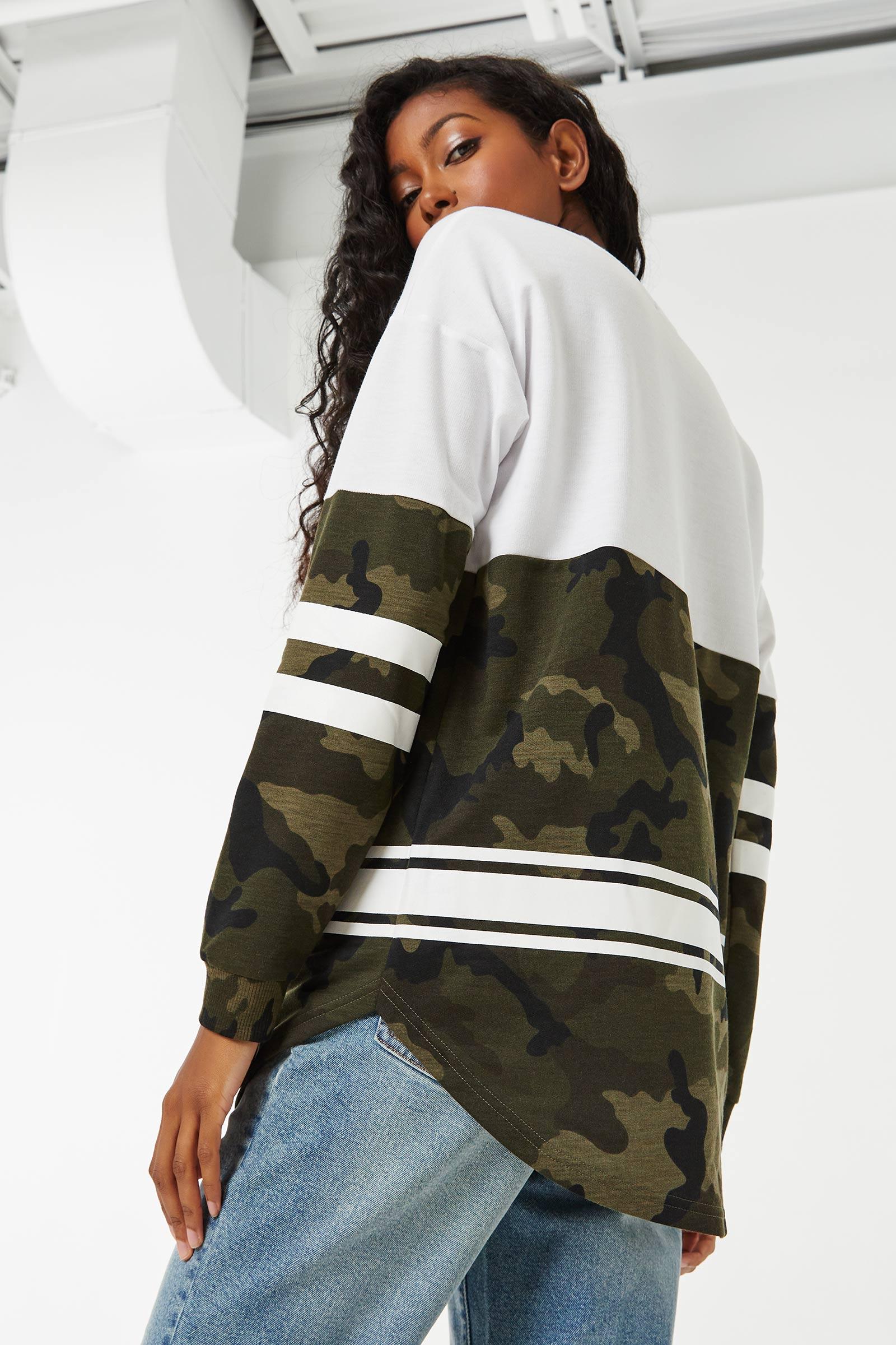 Color Block Sporty Sweatshirt