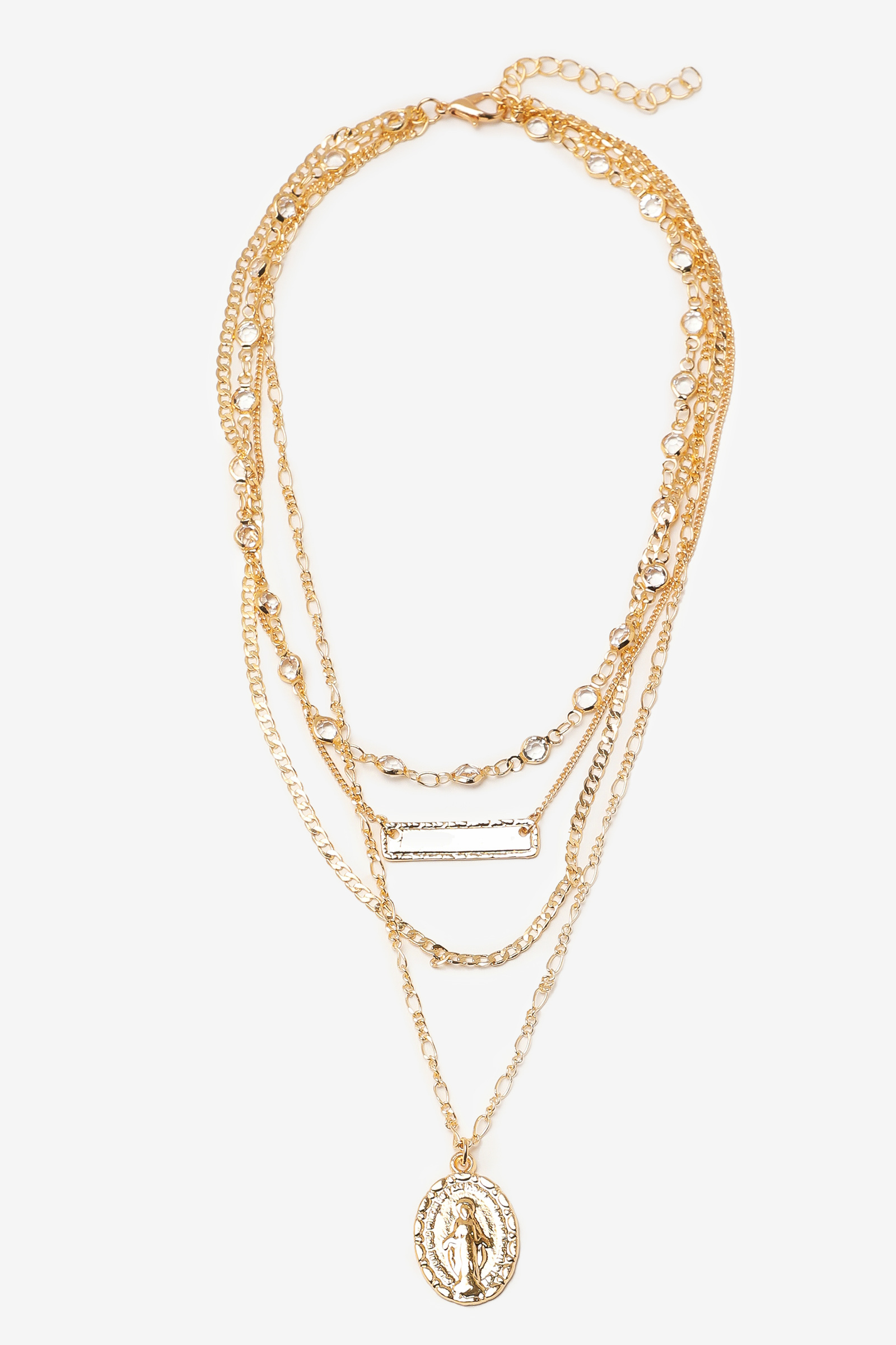 Layered Necklace with Pendant