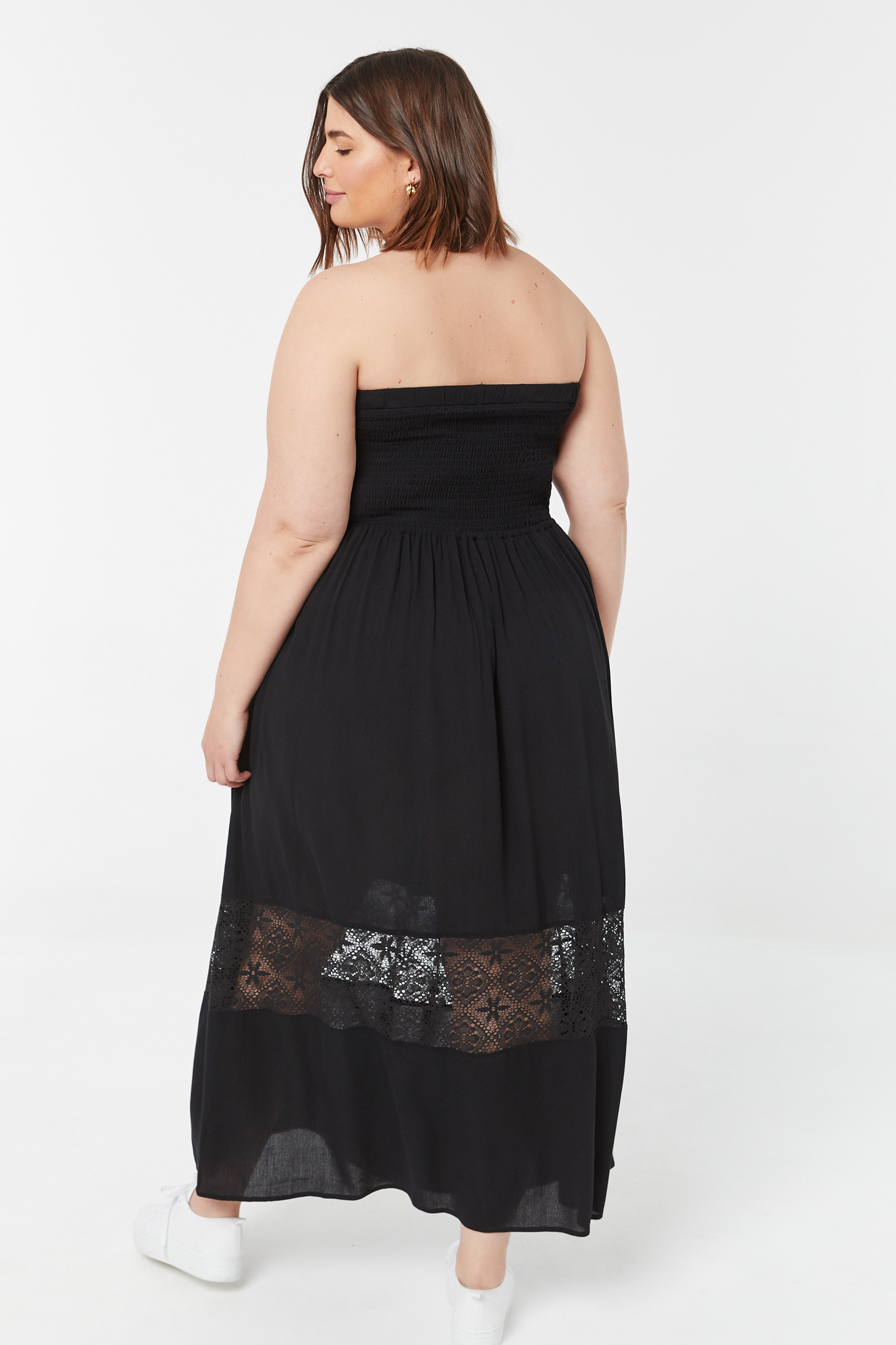 Plus Size Maxi Crochet Tube Dress