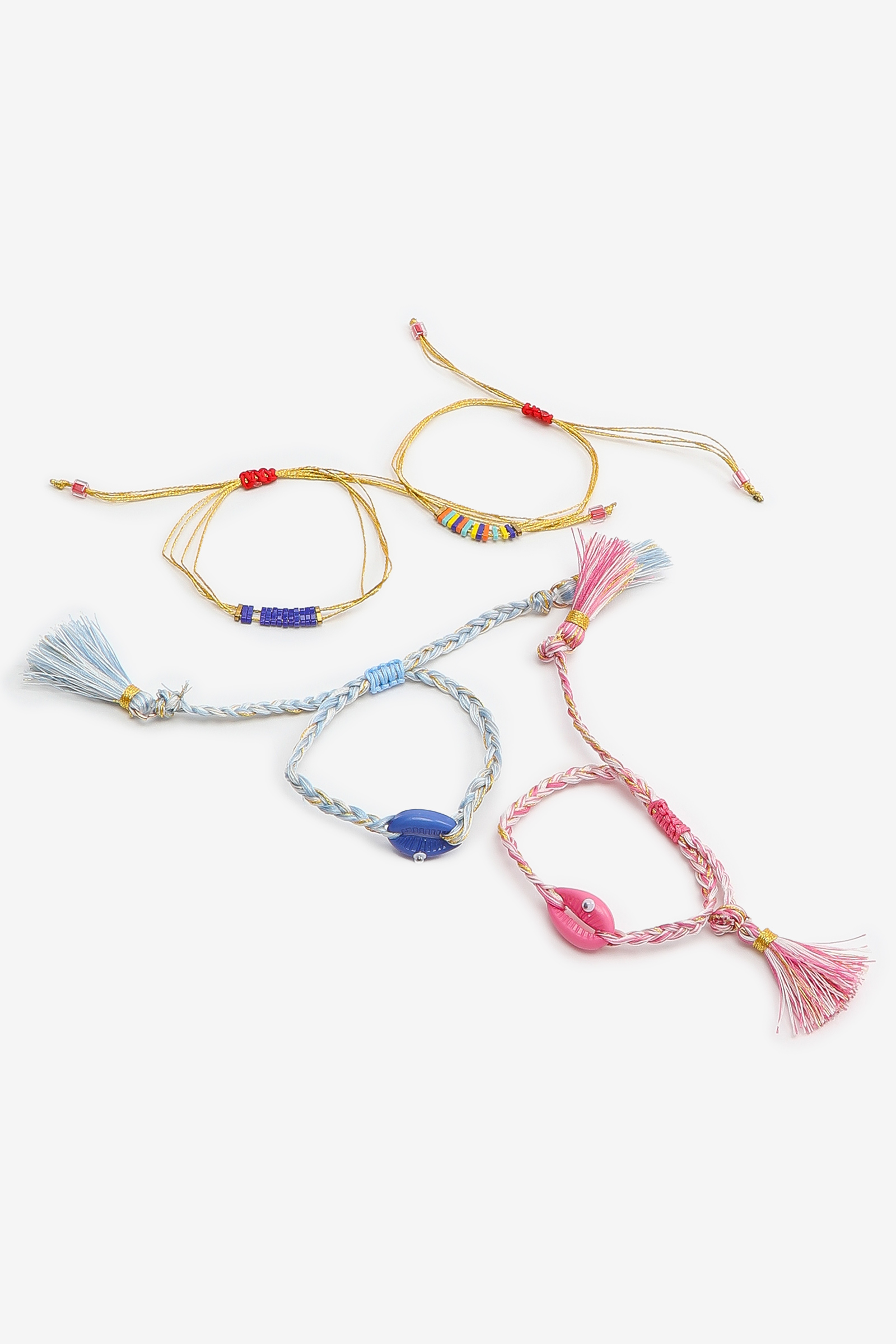 Seashell Cord Anklets