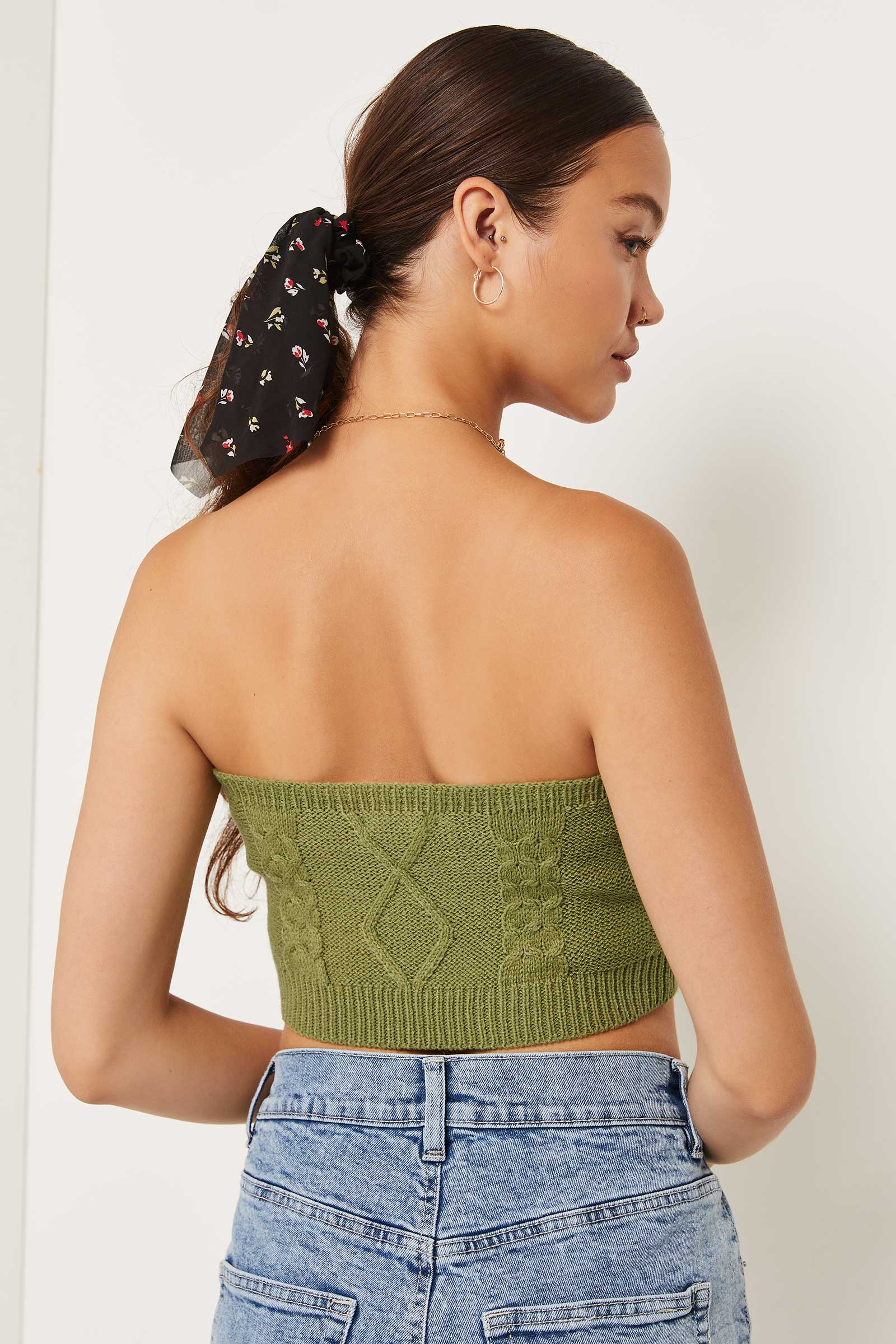 Ultra Cropped Cable Tube Top