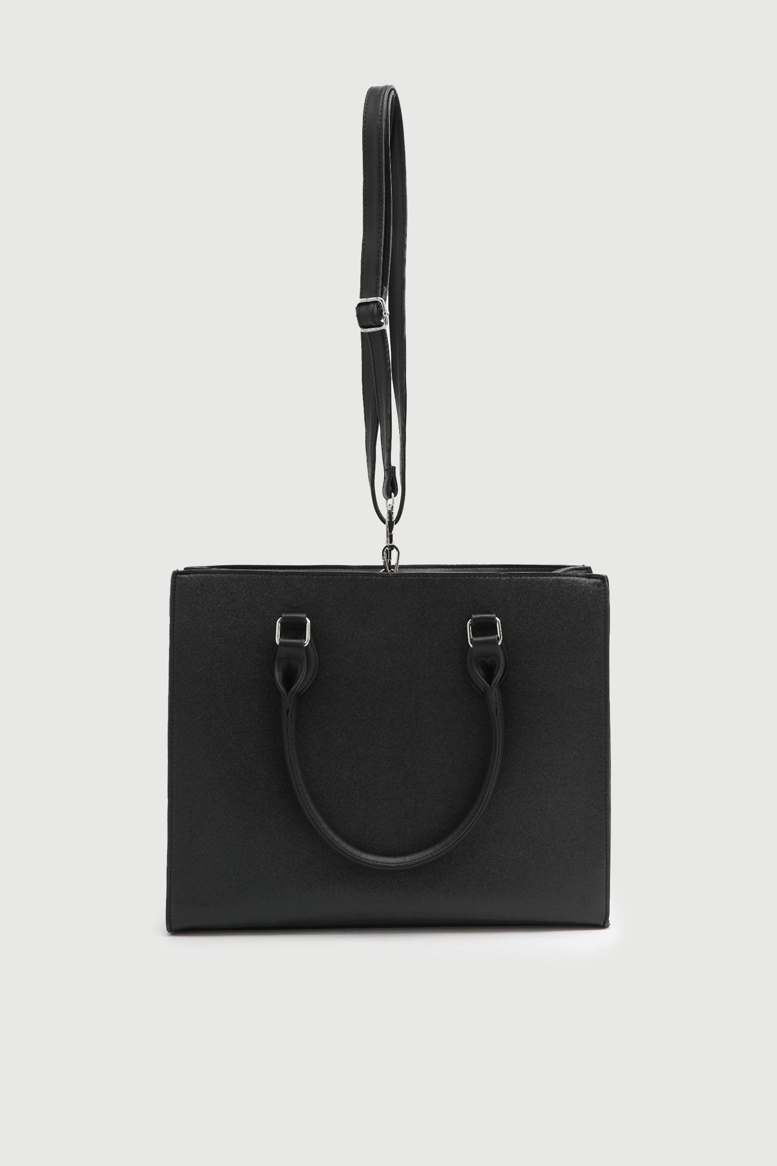 Large Faux Leather Tote Bag