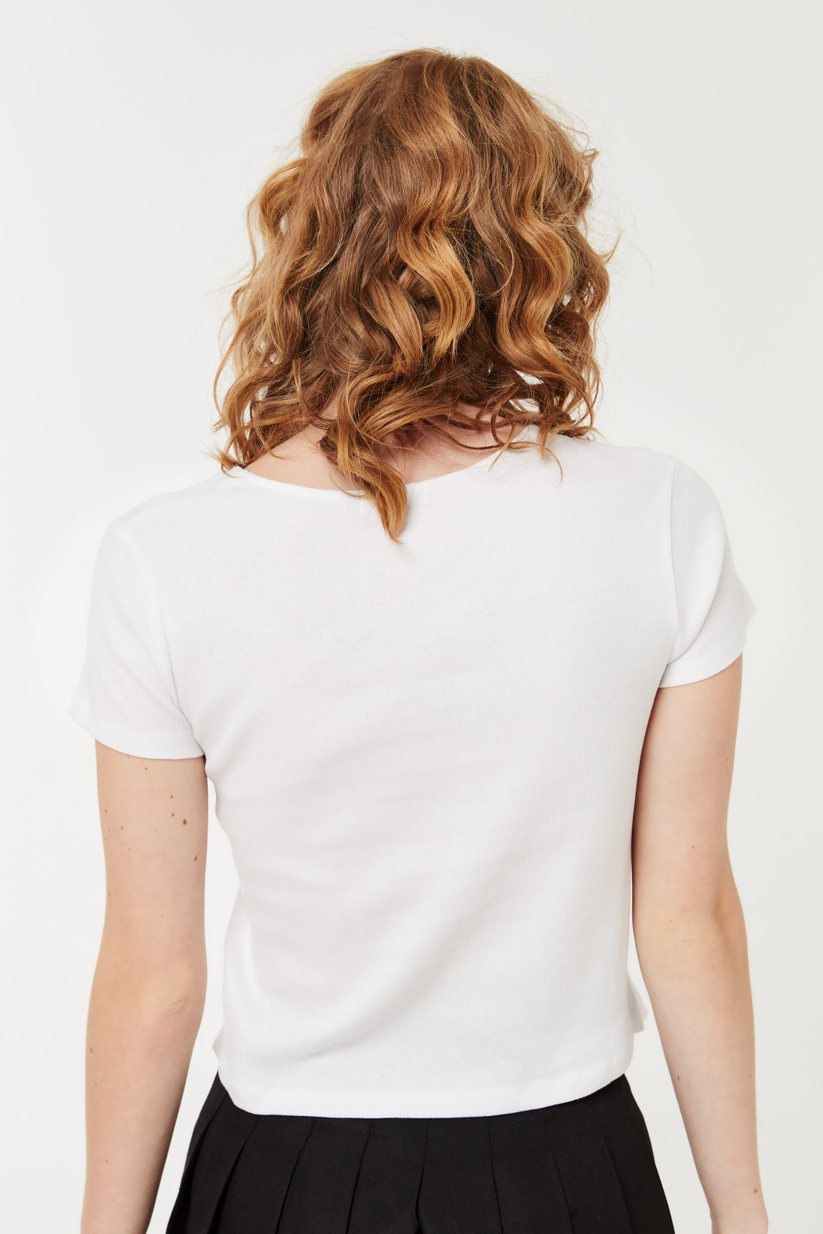T-shirt col U Basic