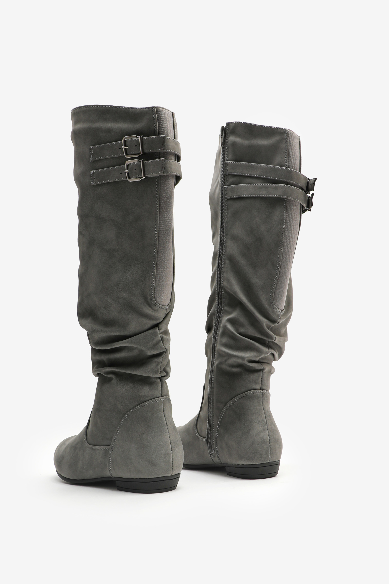 Knee-High Ruched Boots