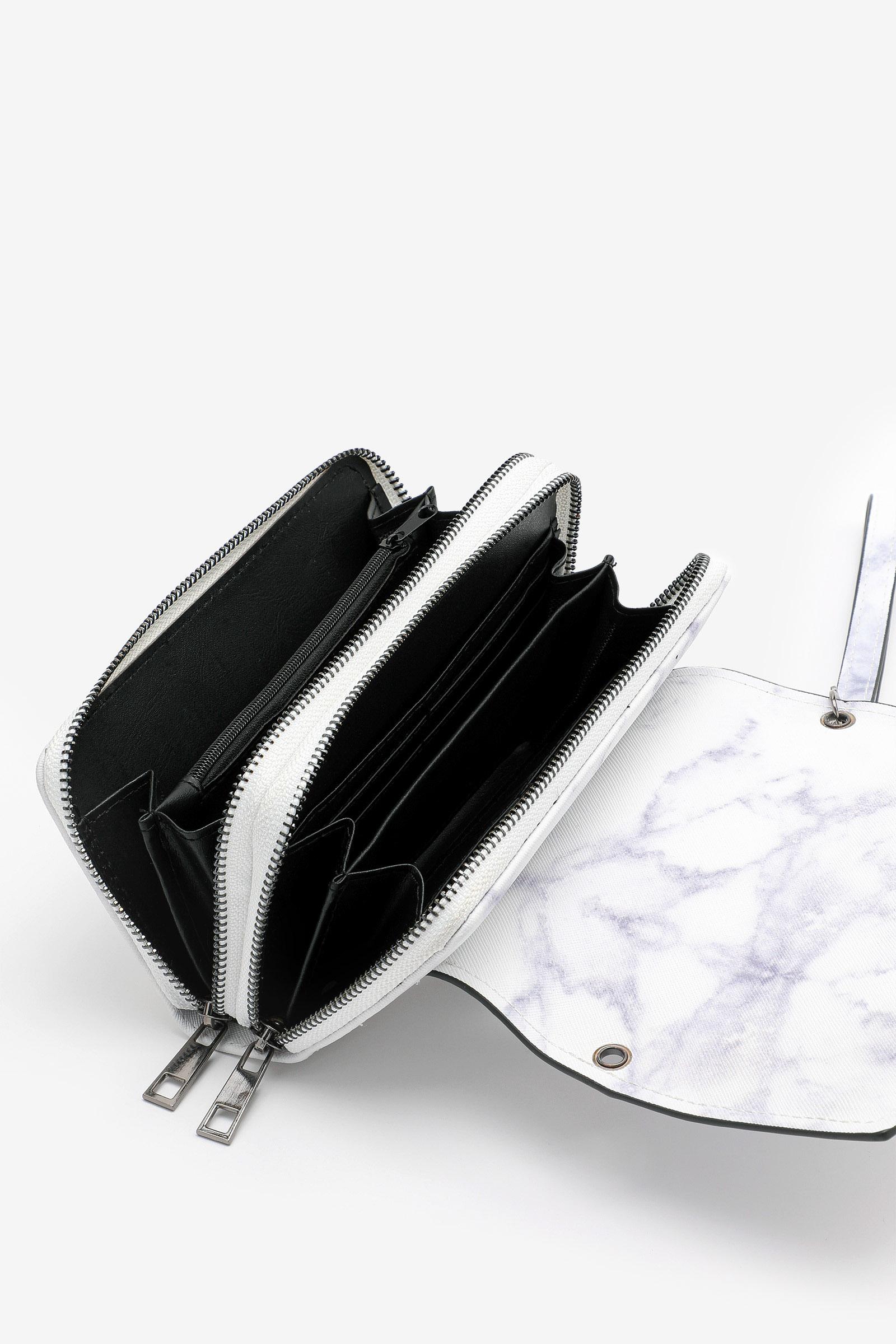 Marble Clutch Crossbody Wallet