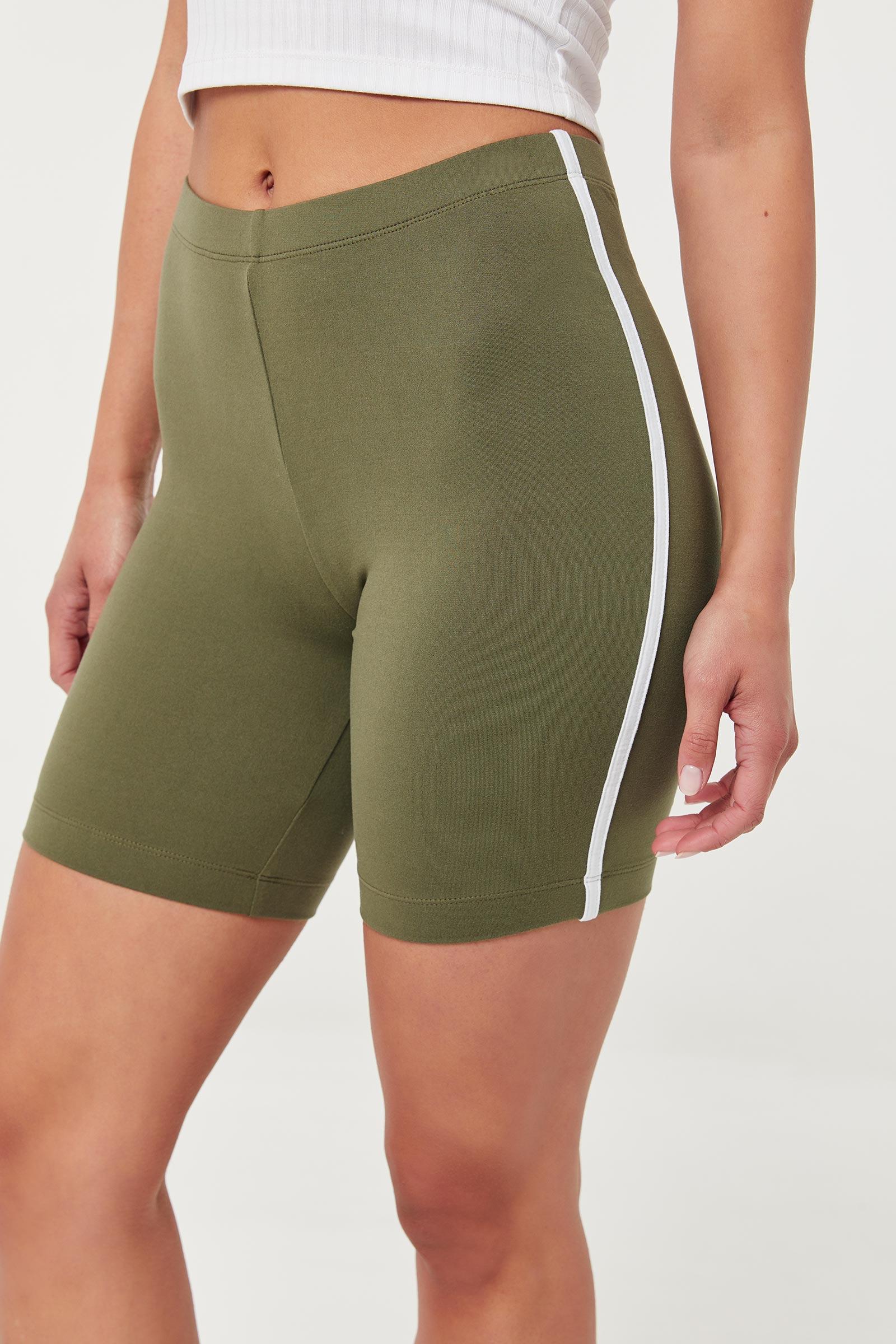 Basic Biker Shorts with Side Stripes