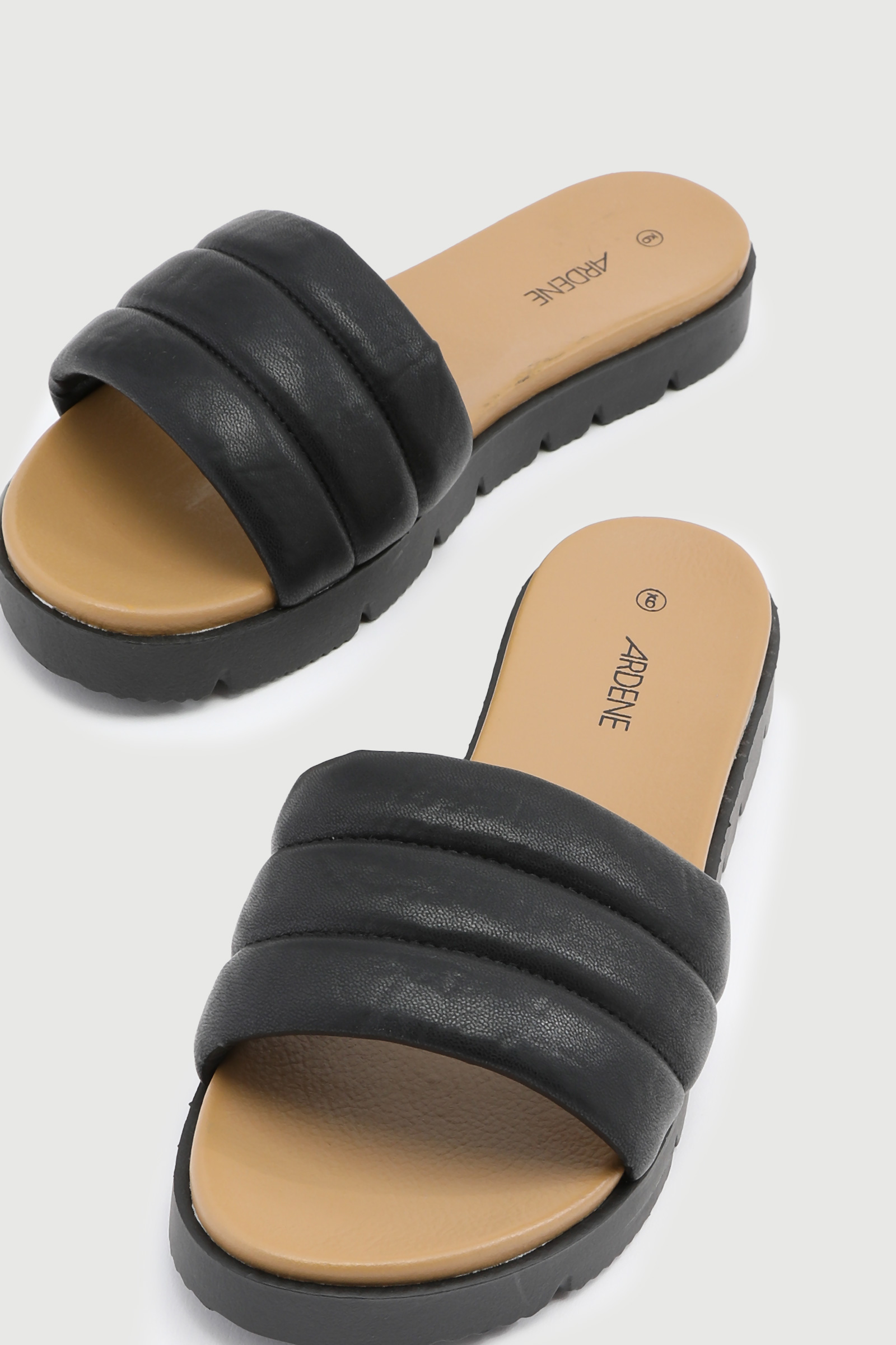 Puffy Quilted Slide Sandals