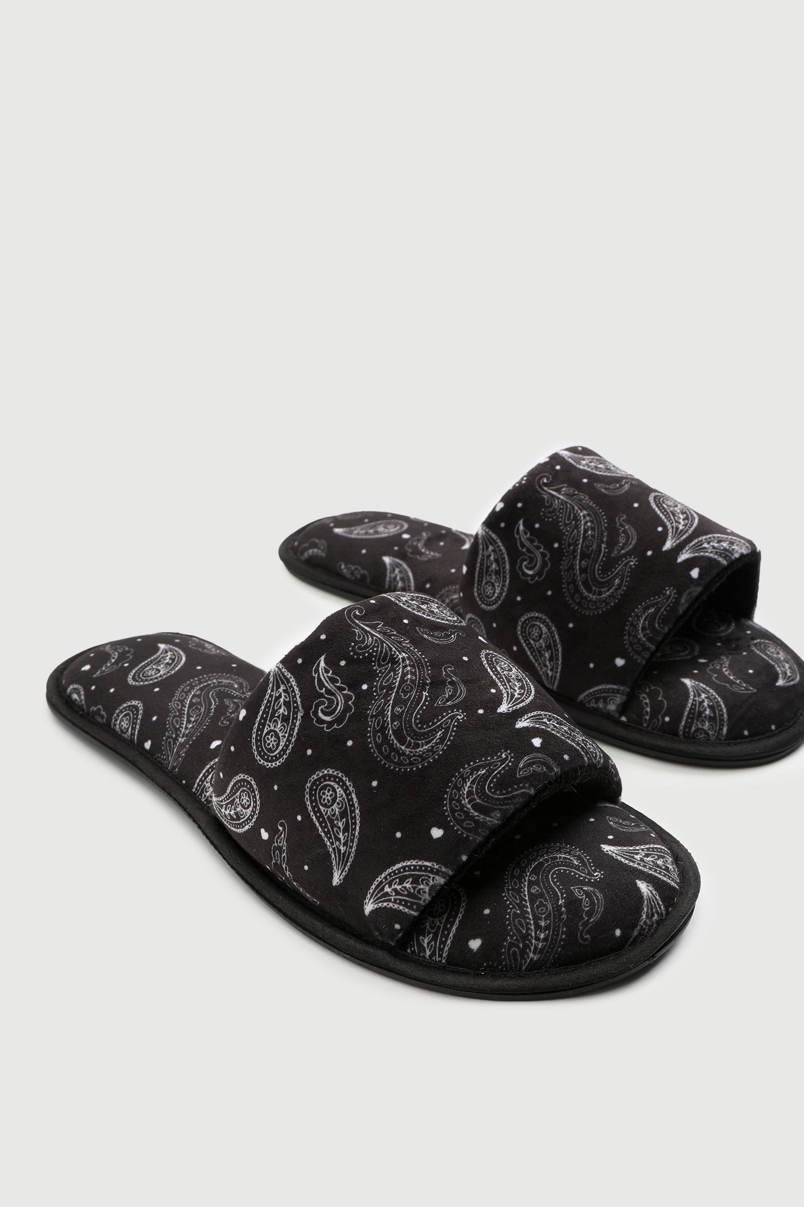 Paisley Slide Slippers