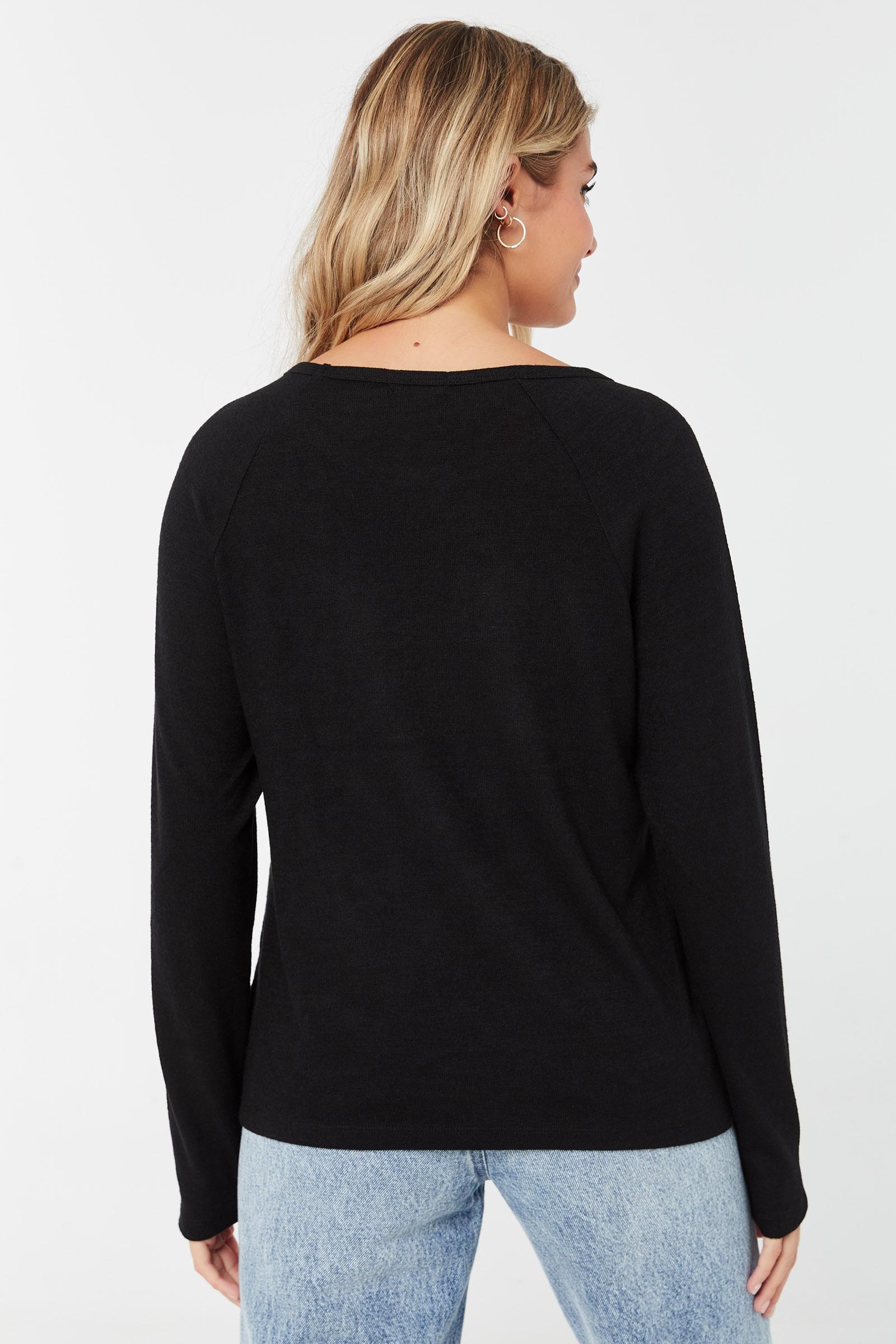 T-shirt raglan à manches longues