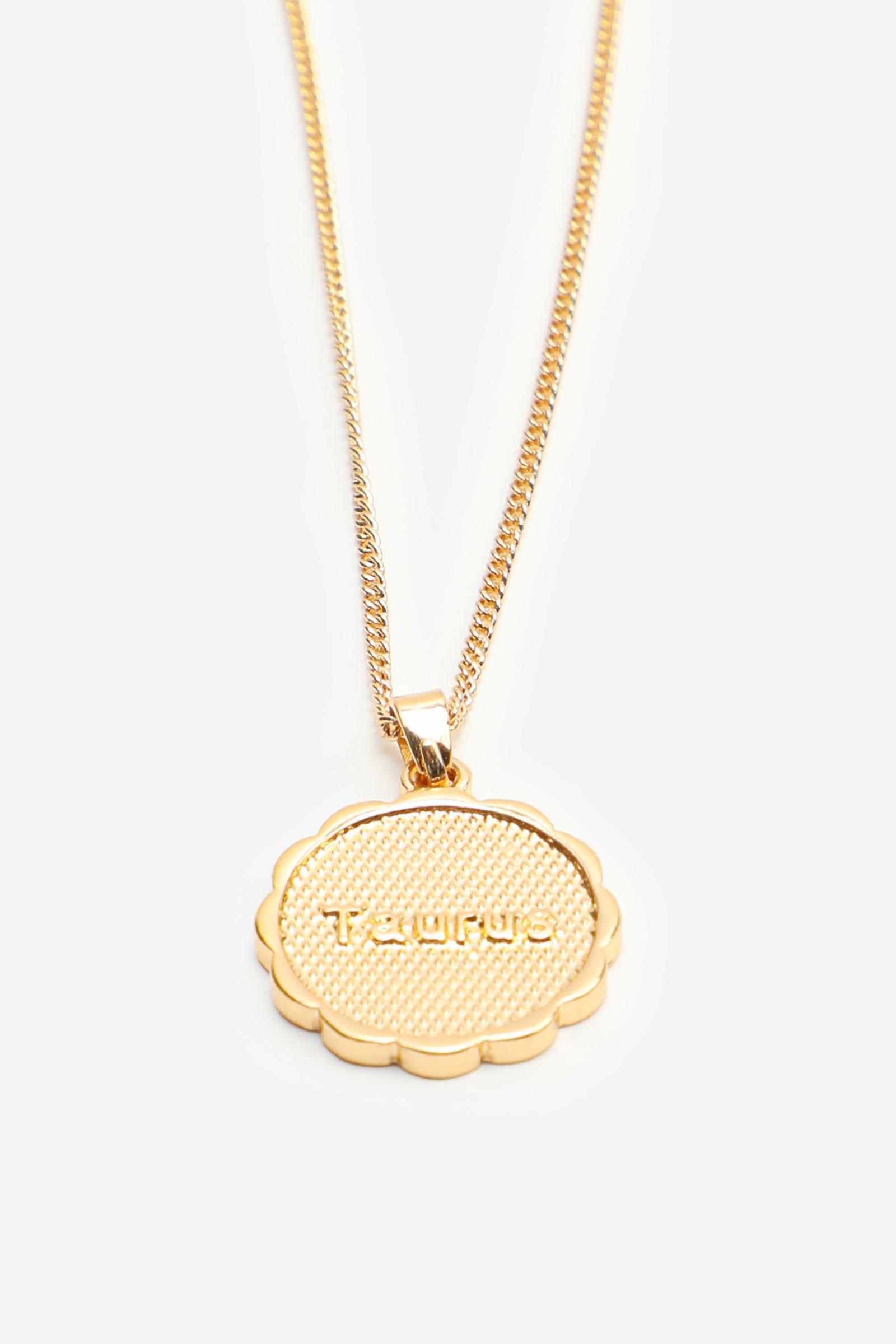 Zodiac Taurus Pendant Necklace