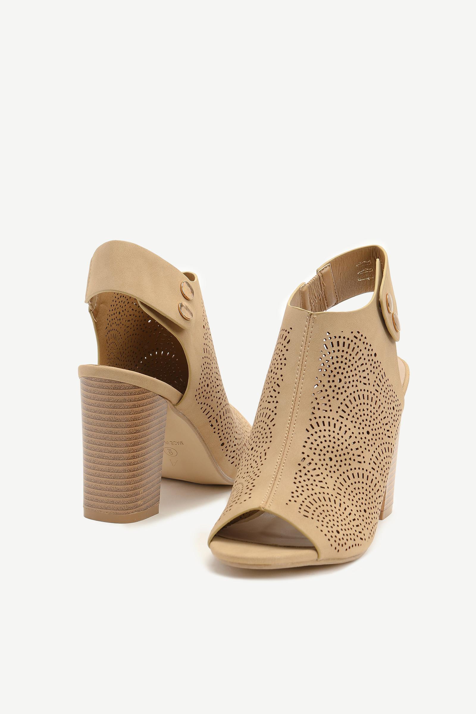 Cut Out Mule Heel Sandals