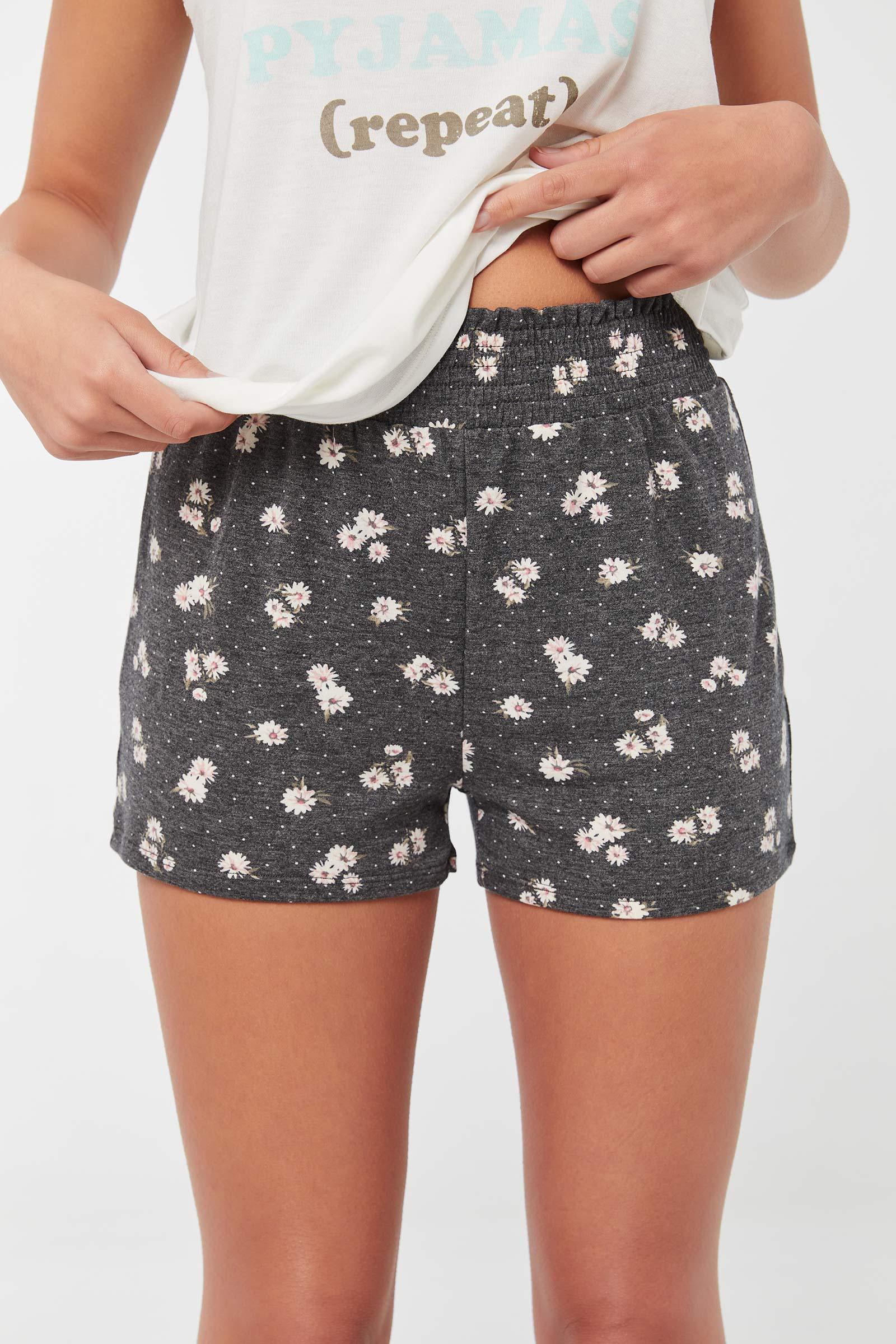 Floral Smocked Lounge Shorts