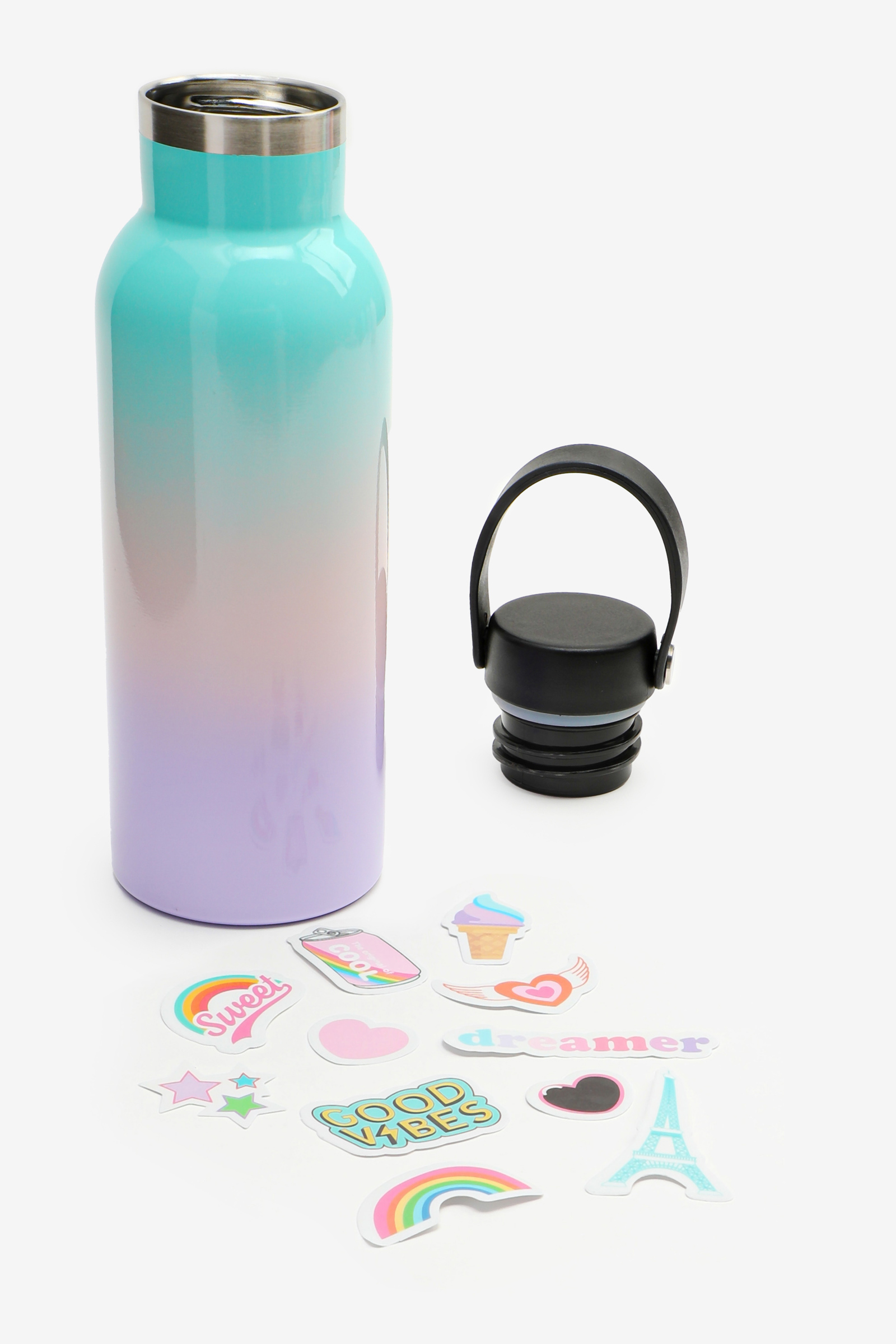 Pastel Ombré Water Bottle with Stickers
