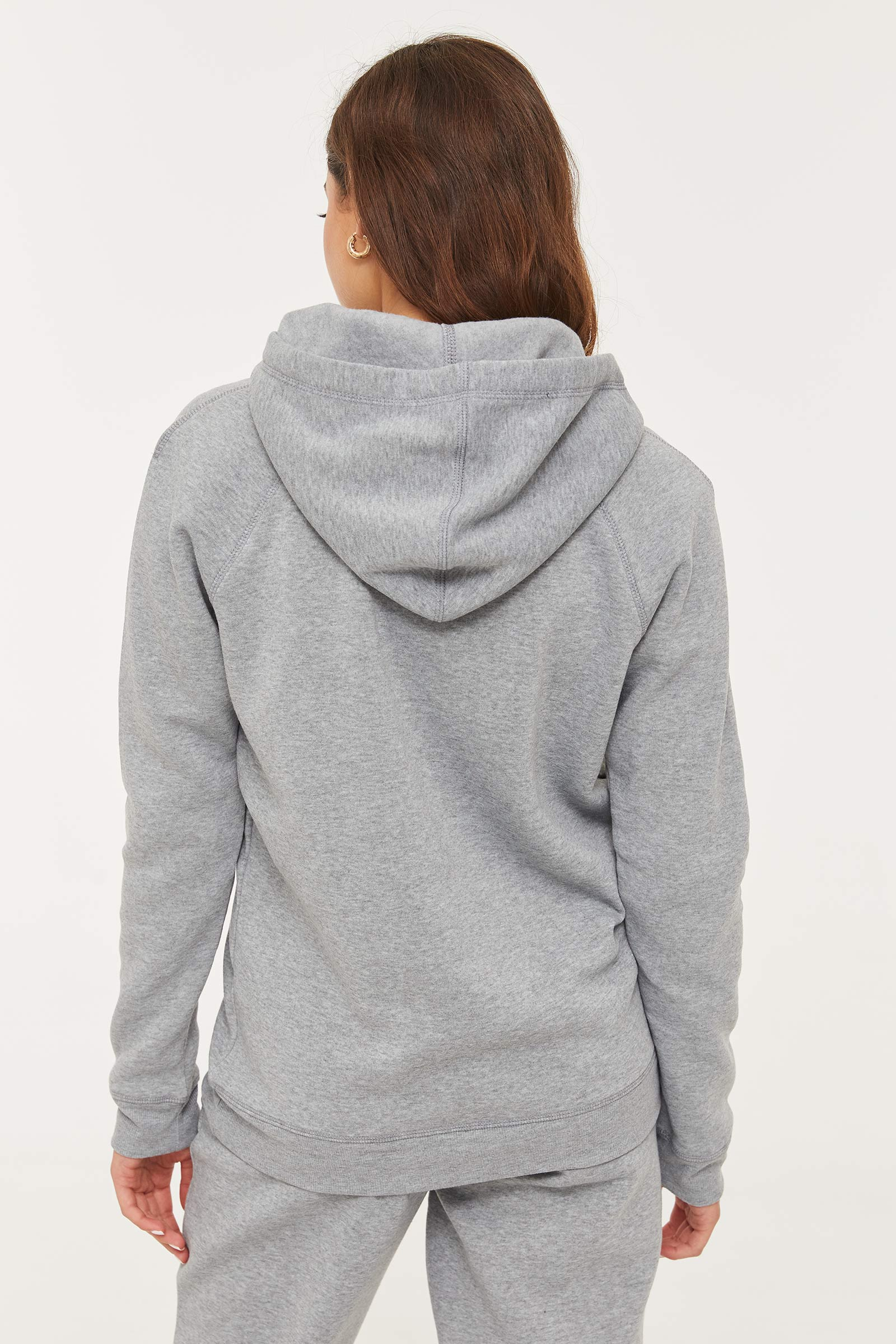 Slogan Fleece-lined Hoodie