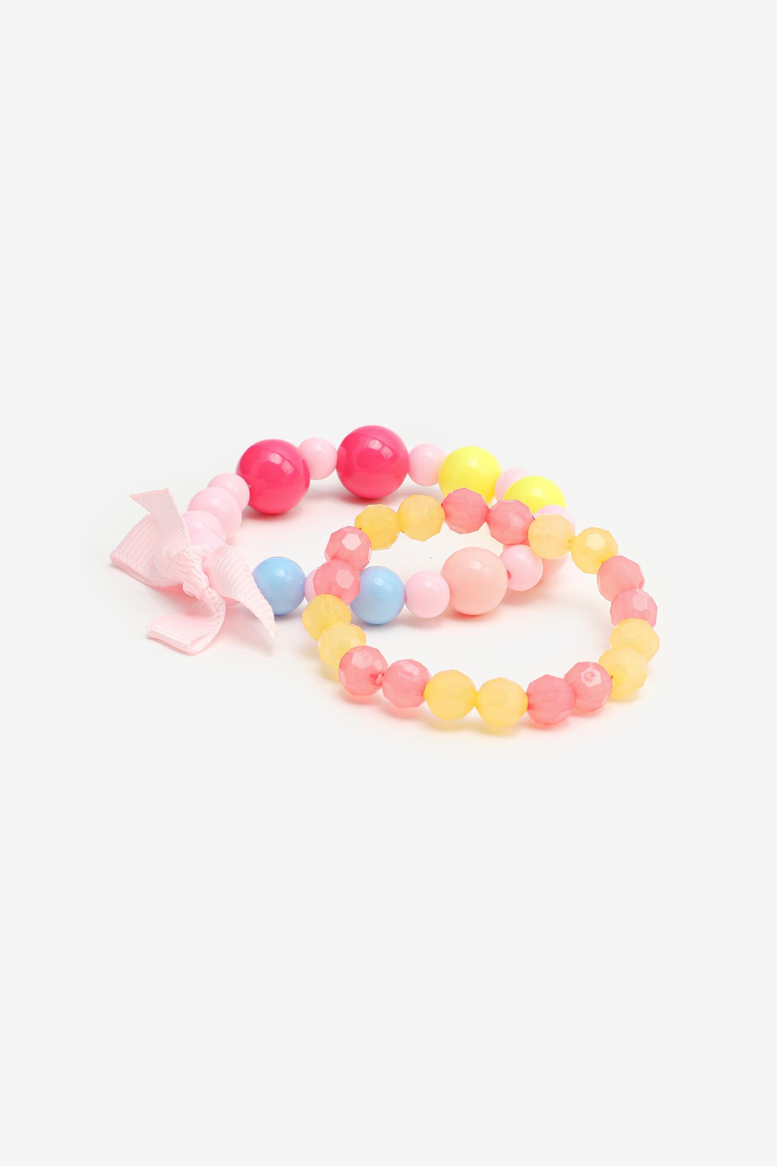2-Pack Colorful Bracelets for Girls