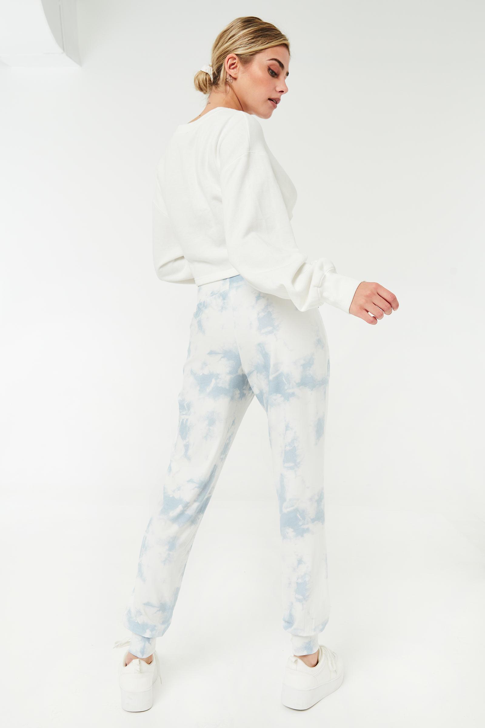 Slouchy Tie-Dye chambray Joggers