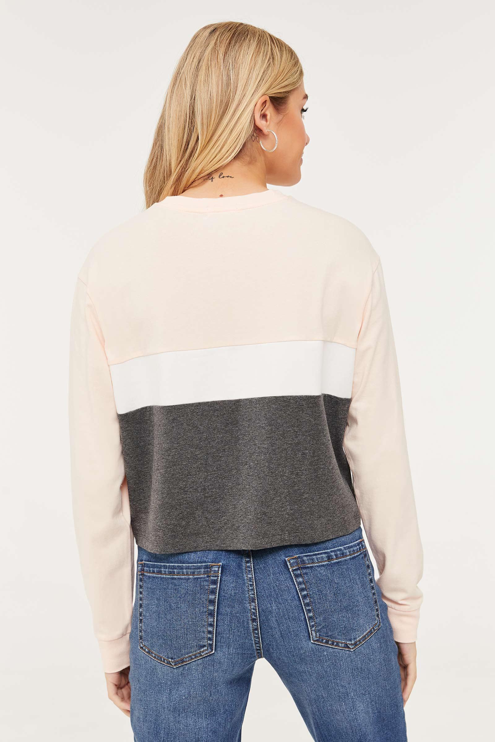 Crop Color Block Sweatshirt