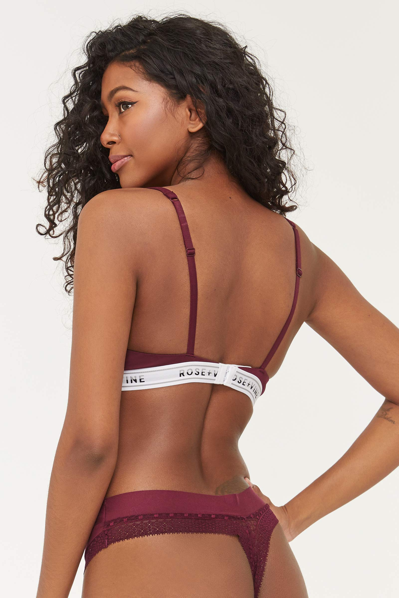 No Show Thong with Lace Trims