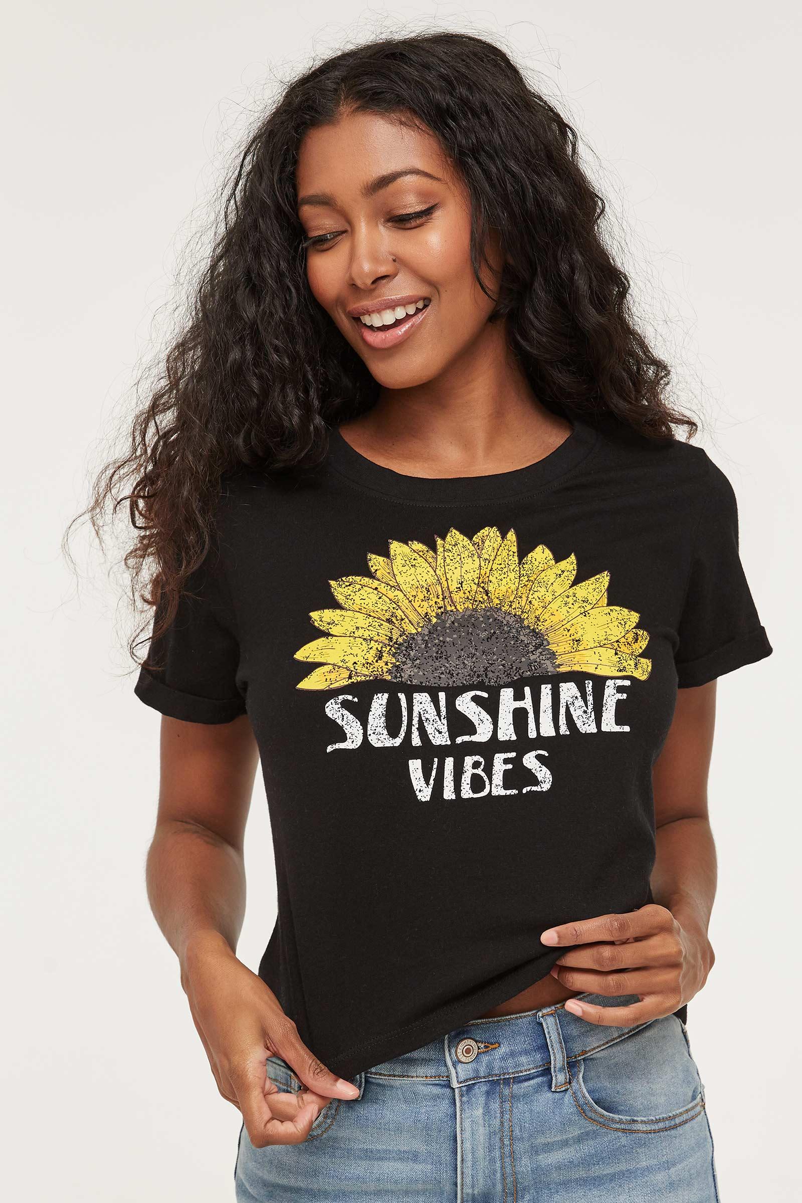 T-shirt carré Sunshine Vibes