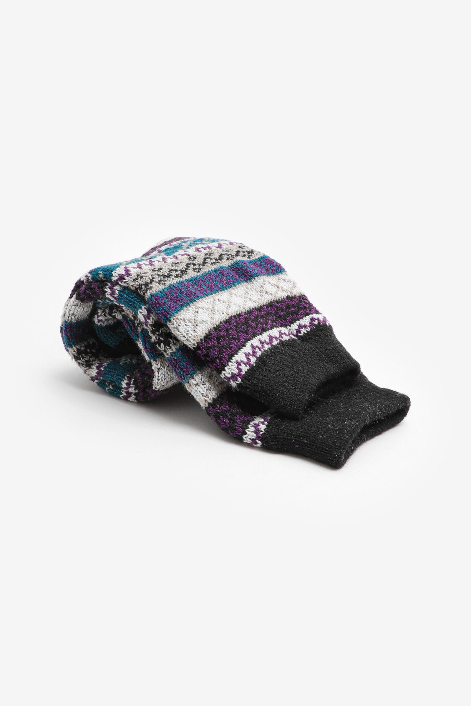 Fair Isle Cabin Socks