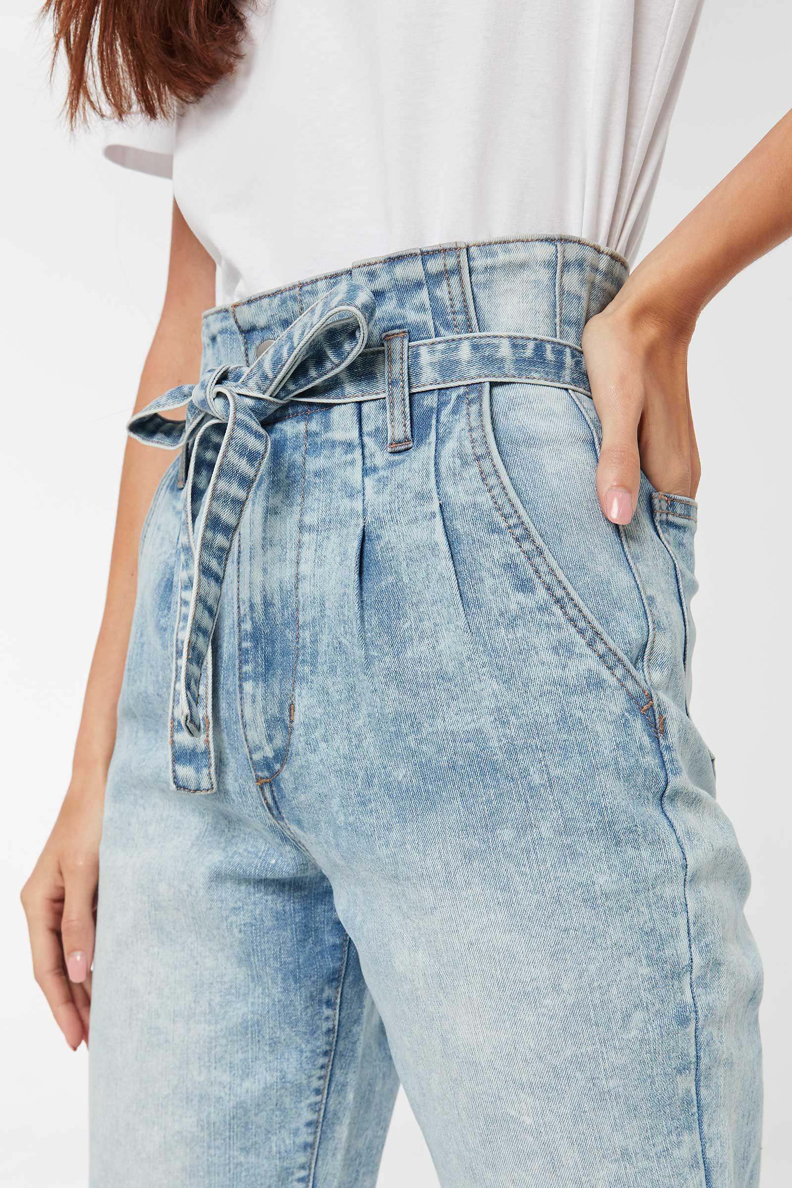 Paper Bag Mom Jeans