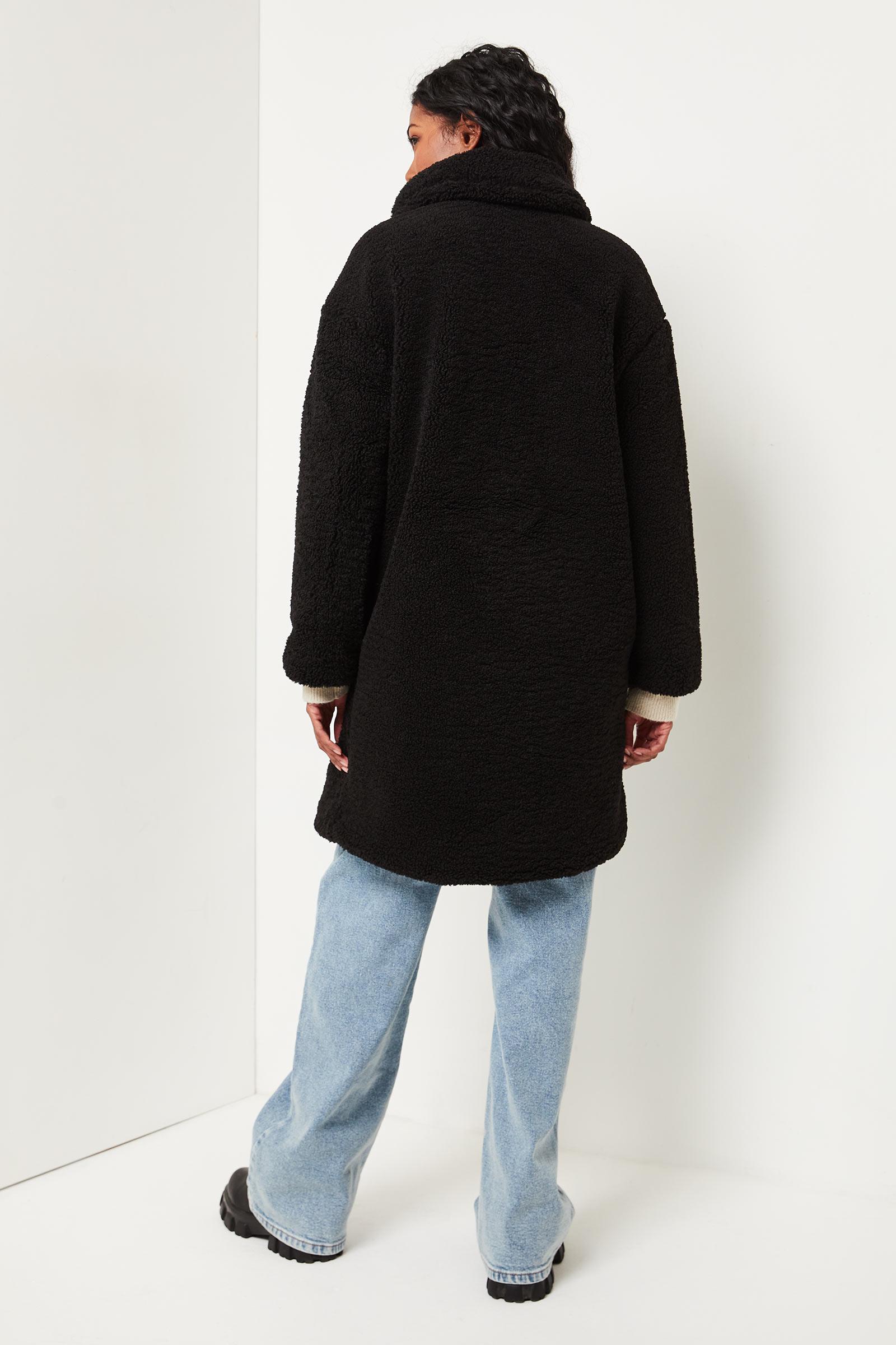 1-Button Sherpa Coat