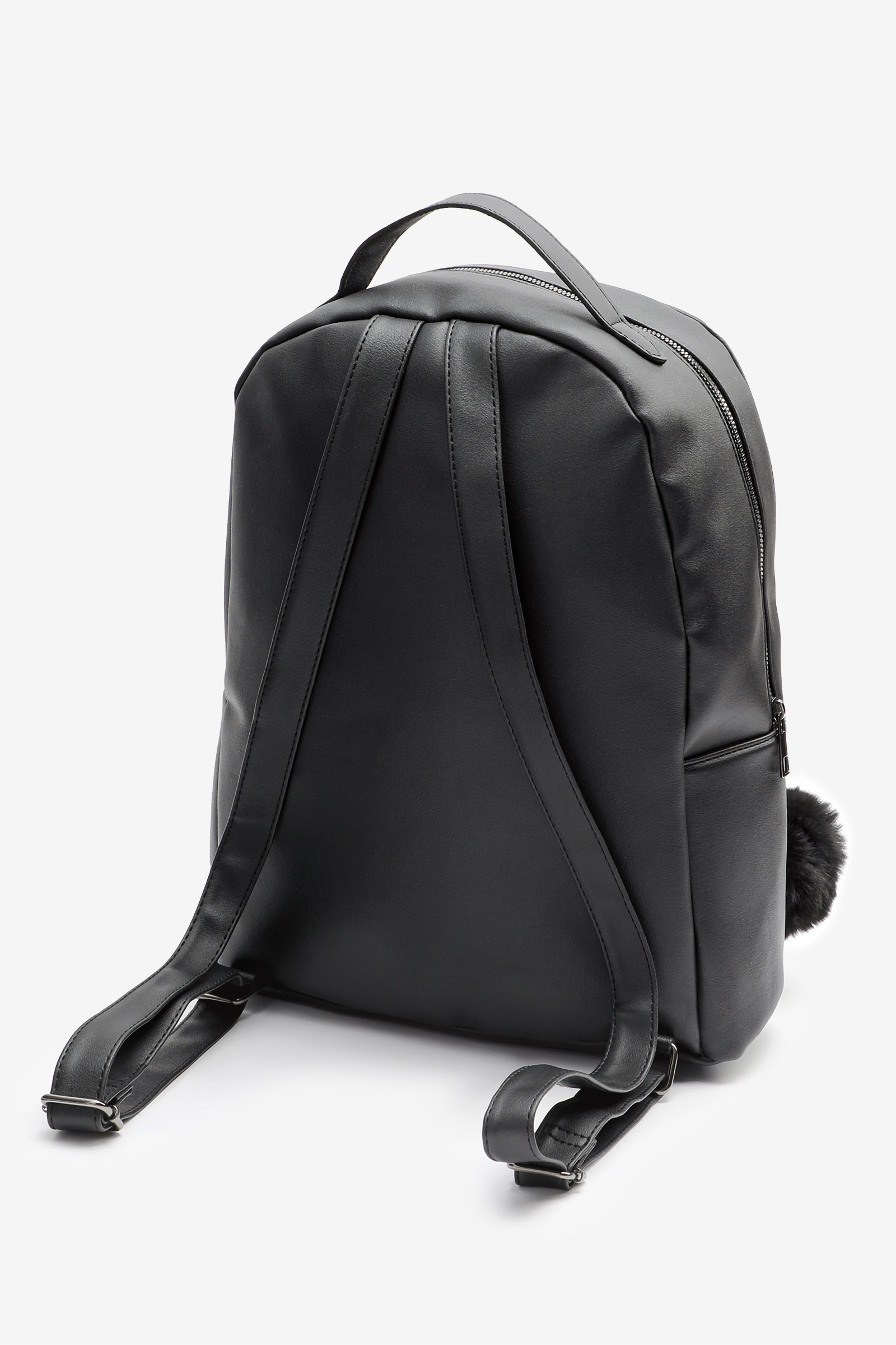 Marble Backpack with Pompom