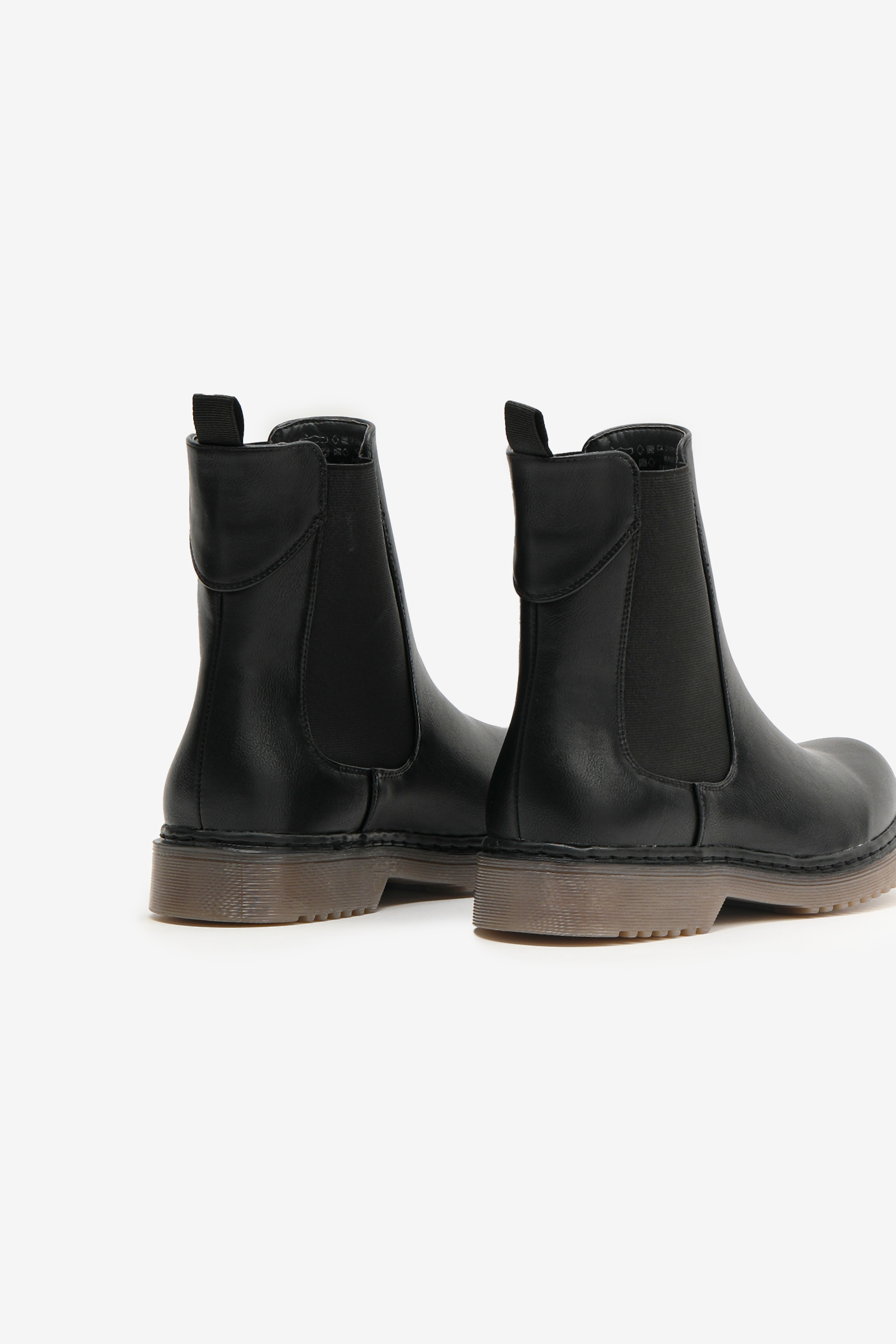 High-Top Chelsea Boots with Injected Sole