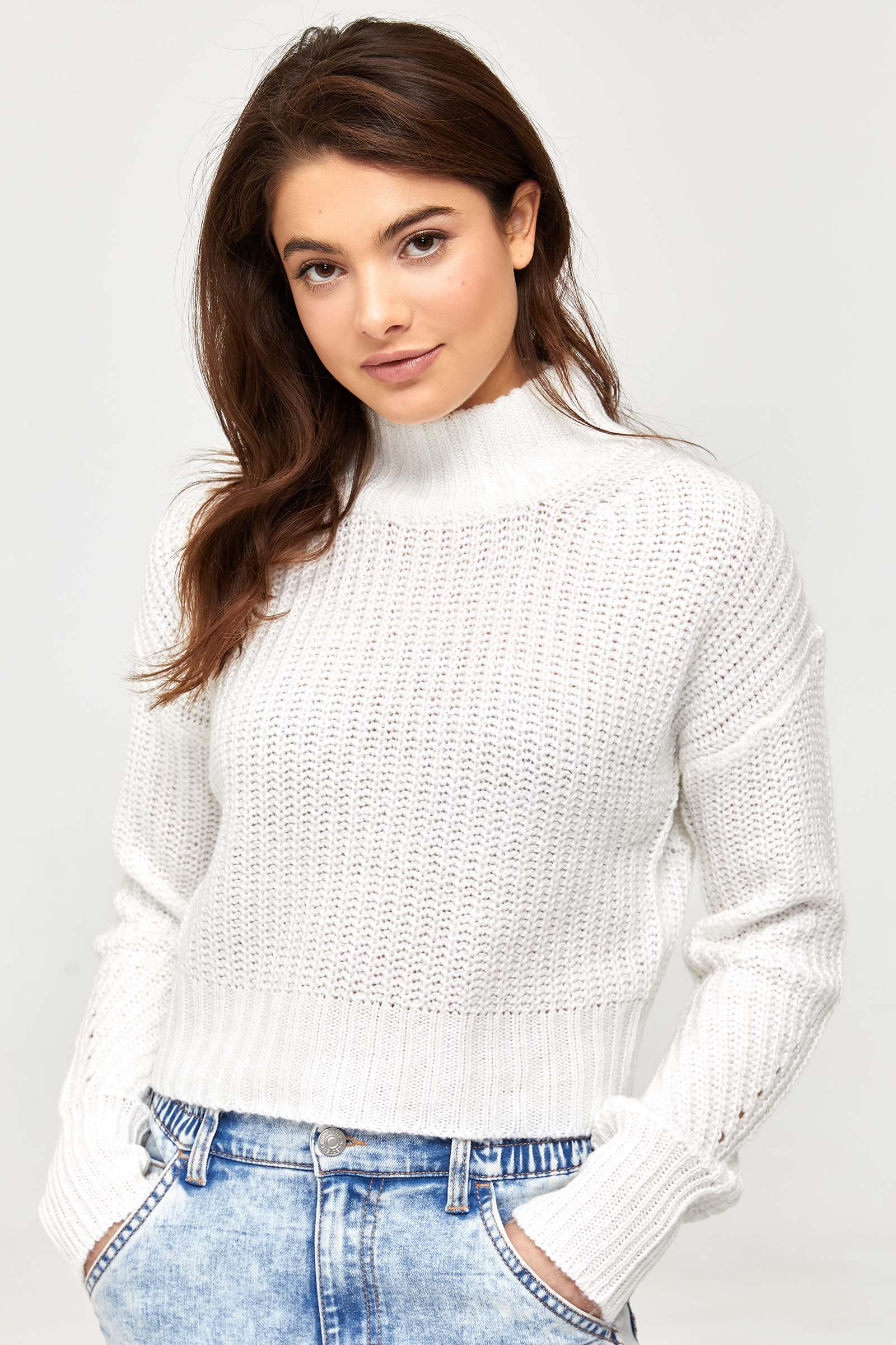 Chandail à col montant en tricot