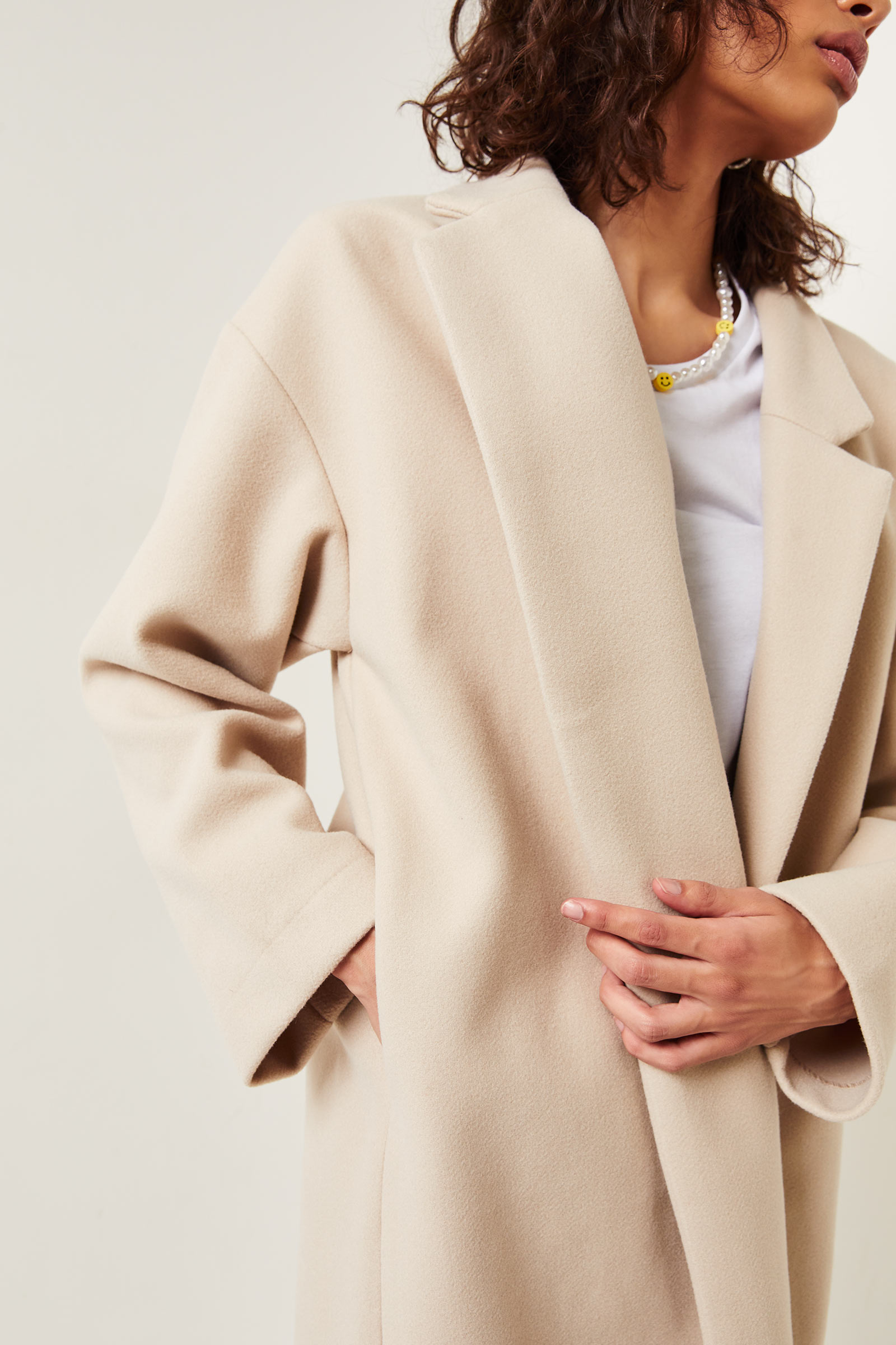 Oversized Drop Shoulder Coat