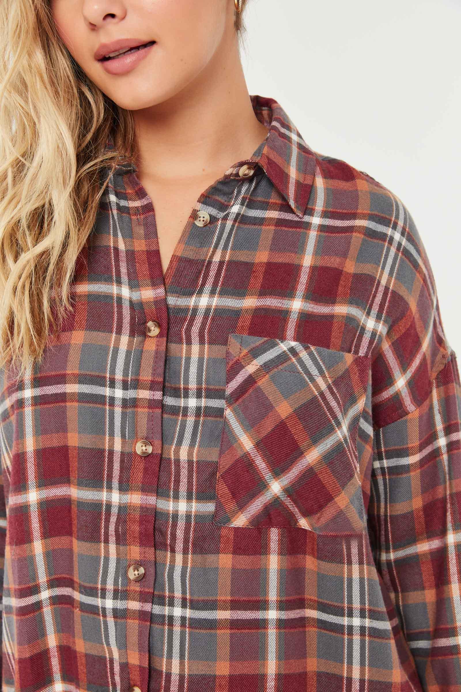 Oversized Flannel Shirt
