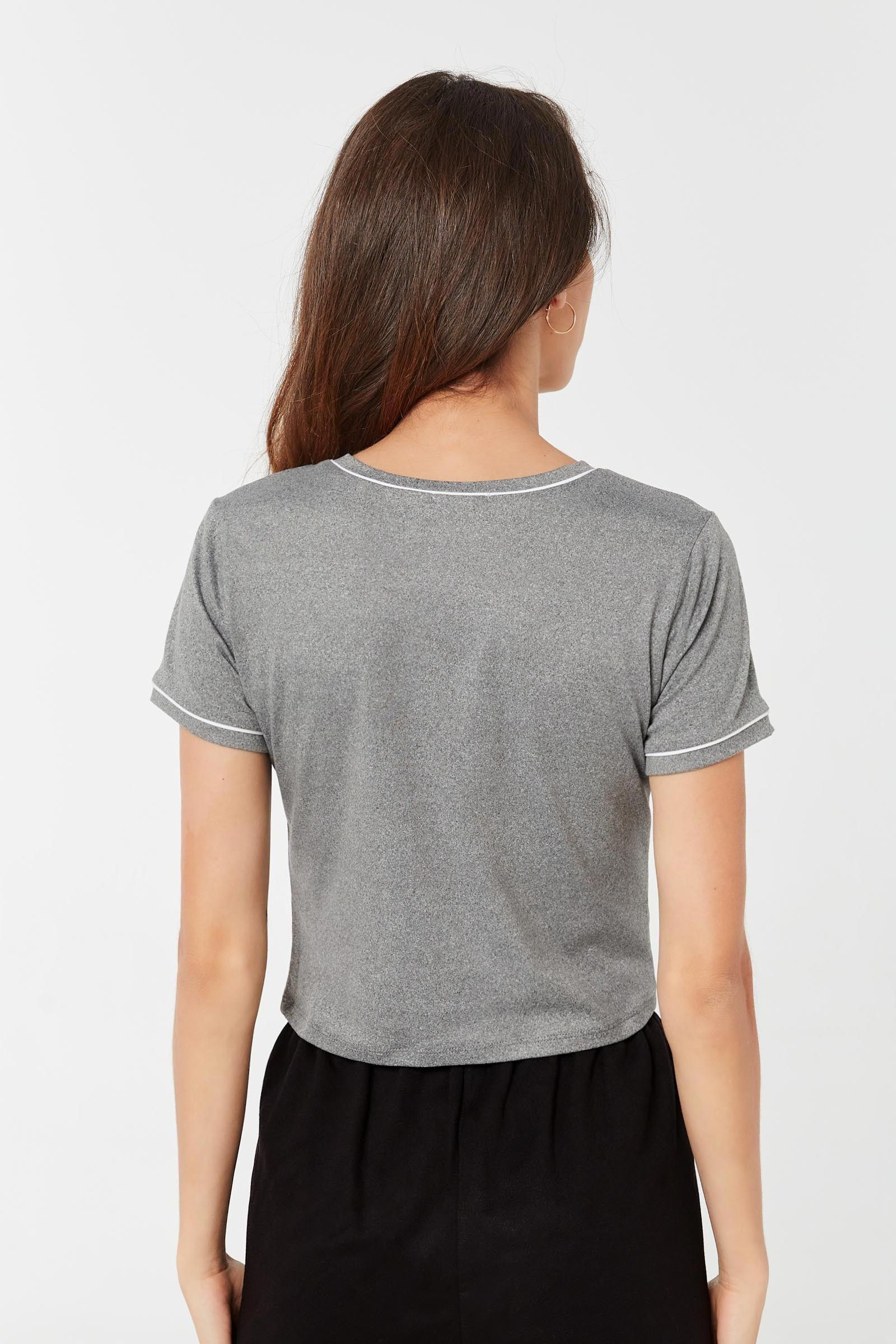 Graphic Tee with Piping