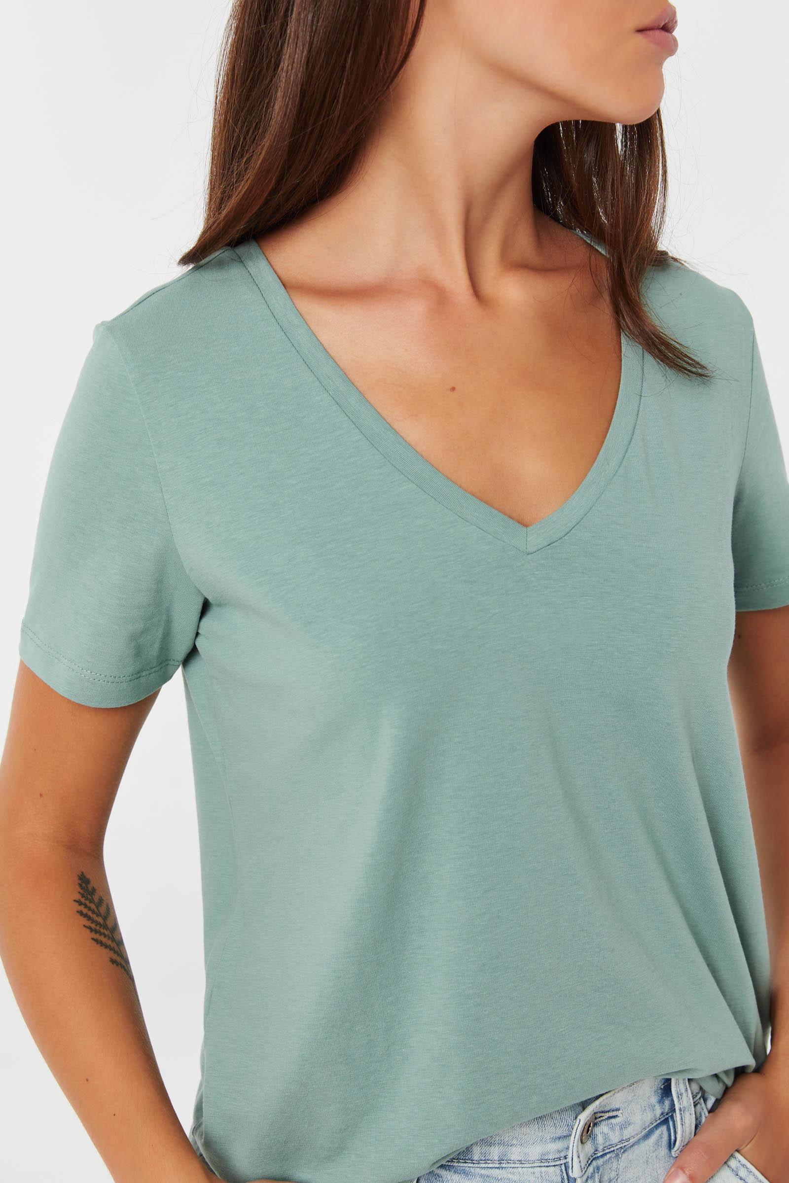 T-shirt col V Basic